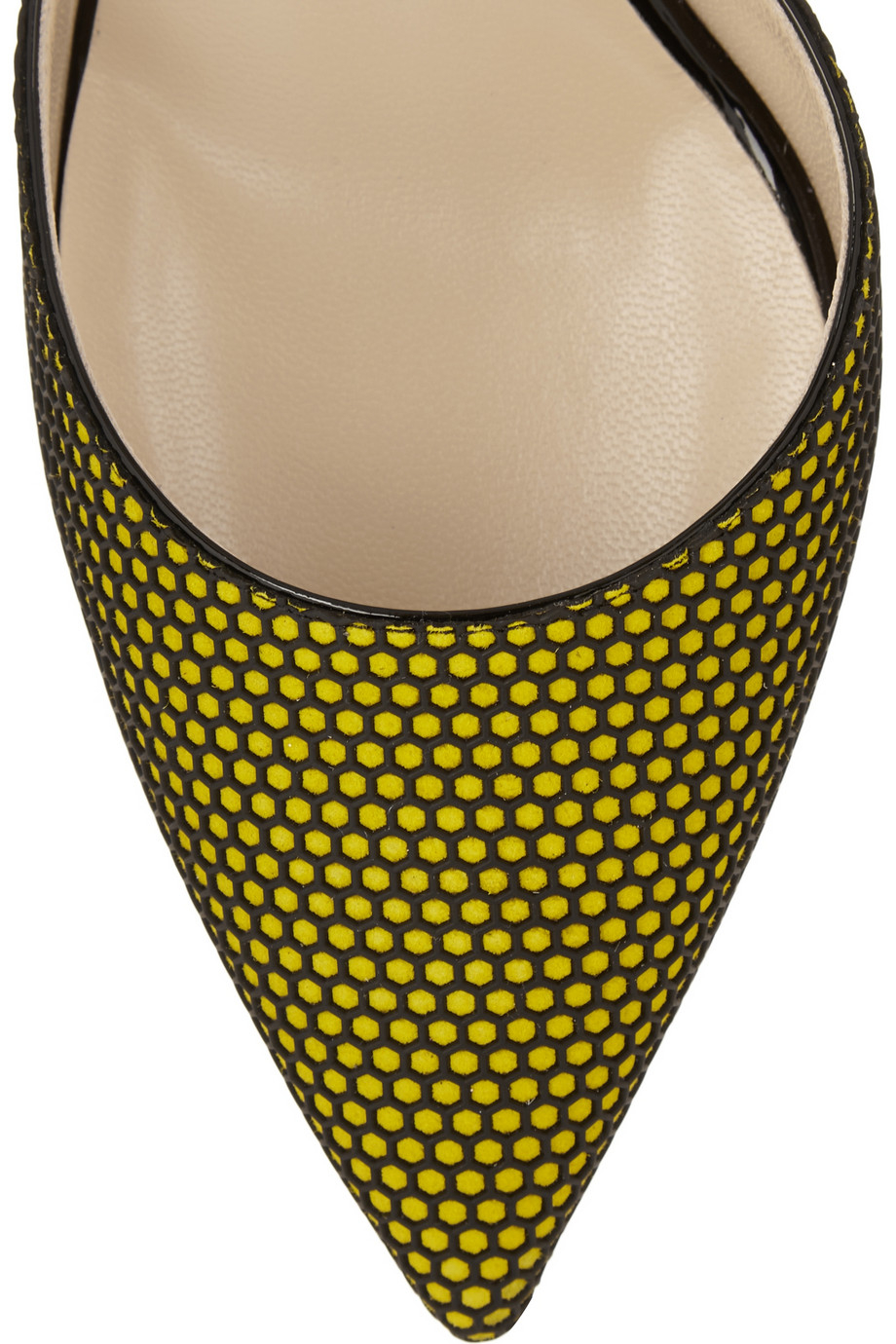 5e73f5daba9 Jimmy Choo Tilly Honeycomb-Mesh And Patent-Leather Pumps in Green - Lyst