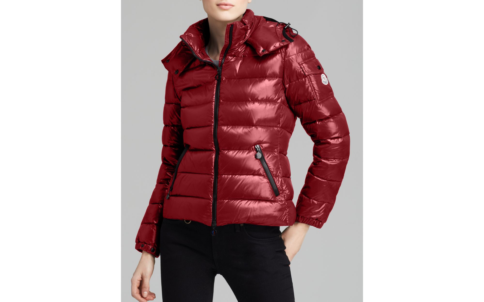42078fbfe best moncler down jacket red jumpsuit dee24 2c46a
