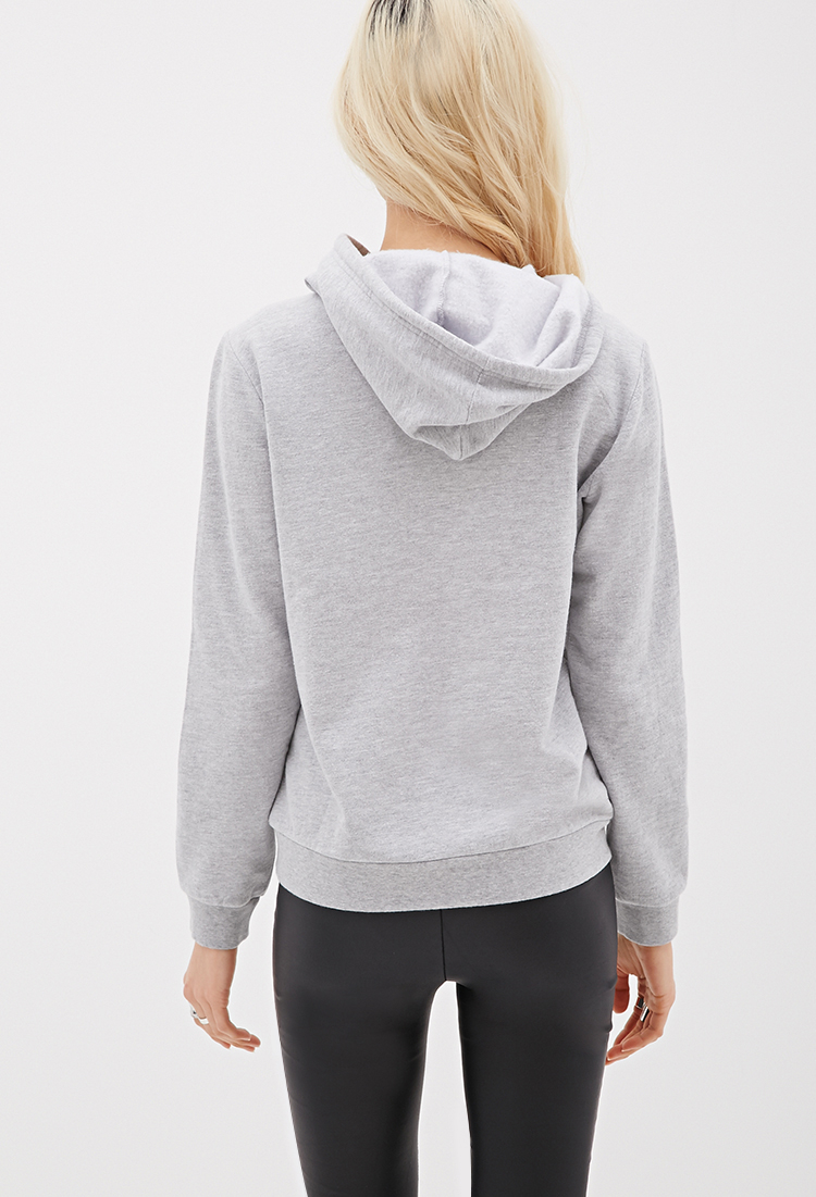 368bf1d857 Lyst - Forever 21 Aspca Happy Face Hoodie in Gray