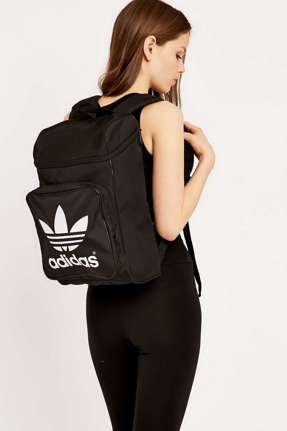 adidas Originals Classic Backpack in Black - Lyst 22285fcc137d4
