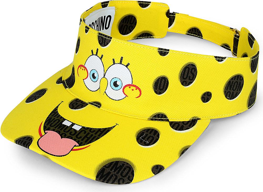 Moschino Spongebob Squarepants Visor In Yellow Lyst