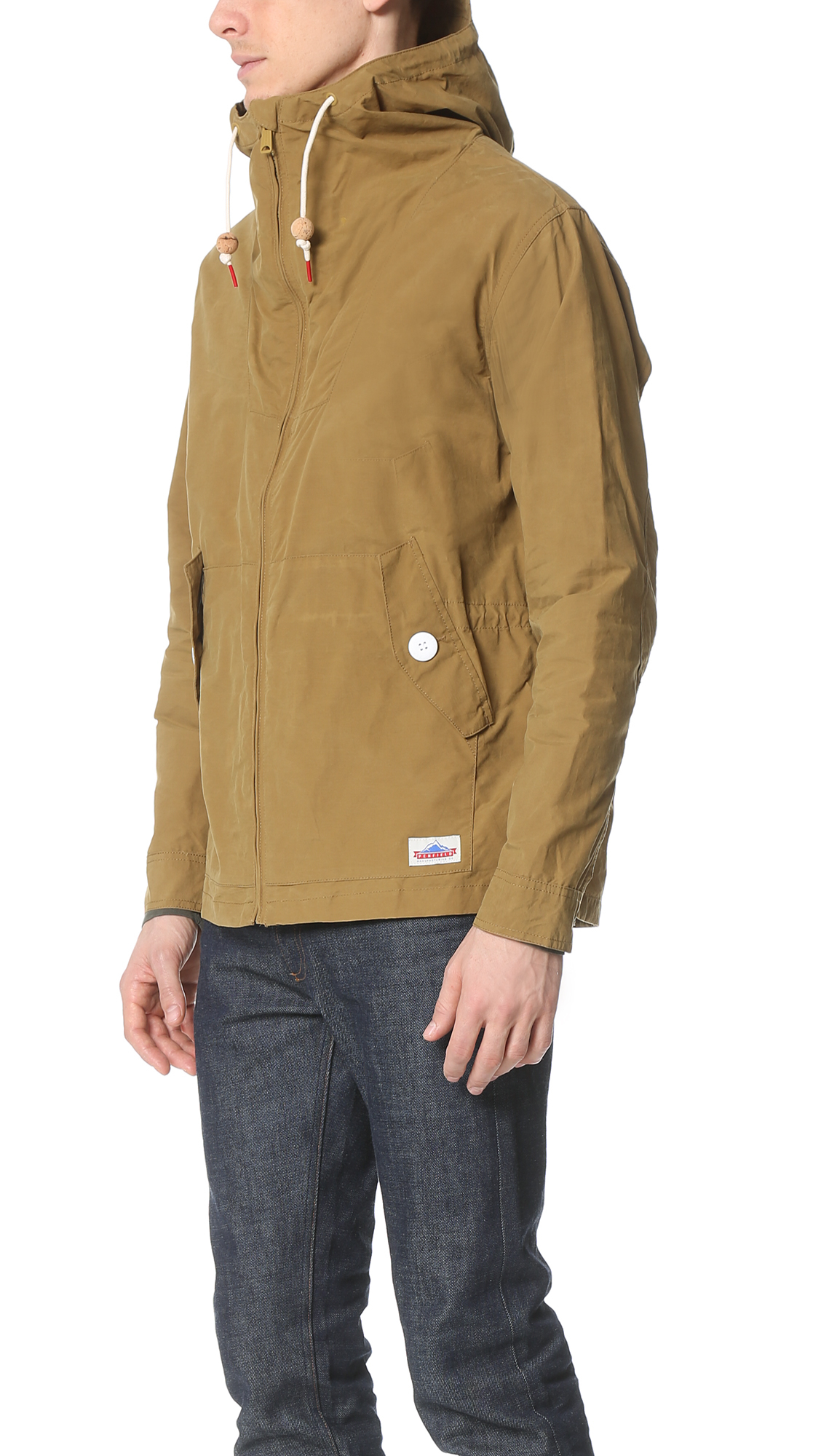 Tan Rain Jacket Fit Jacket