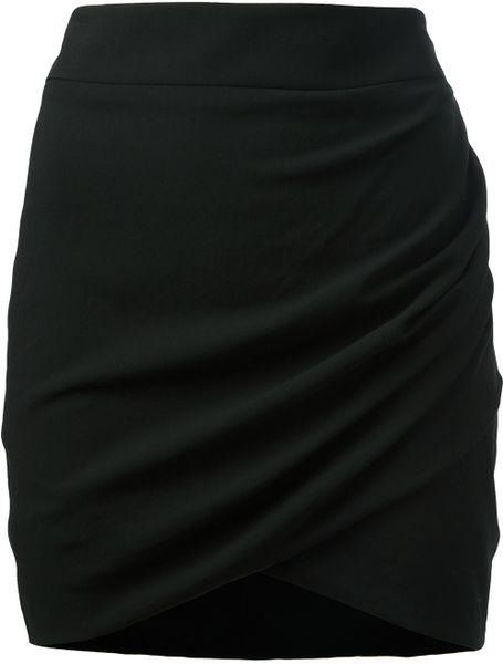 Helmut Lang Tie Waistband Trousers in Black