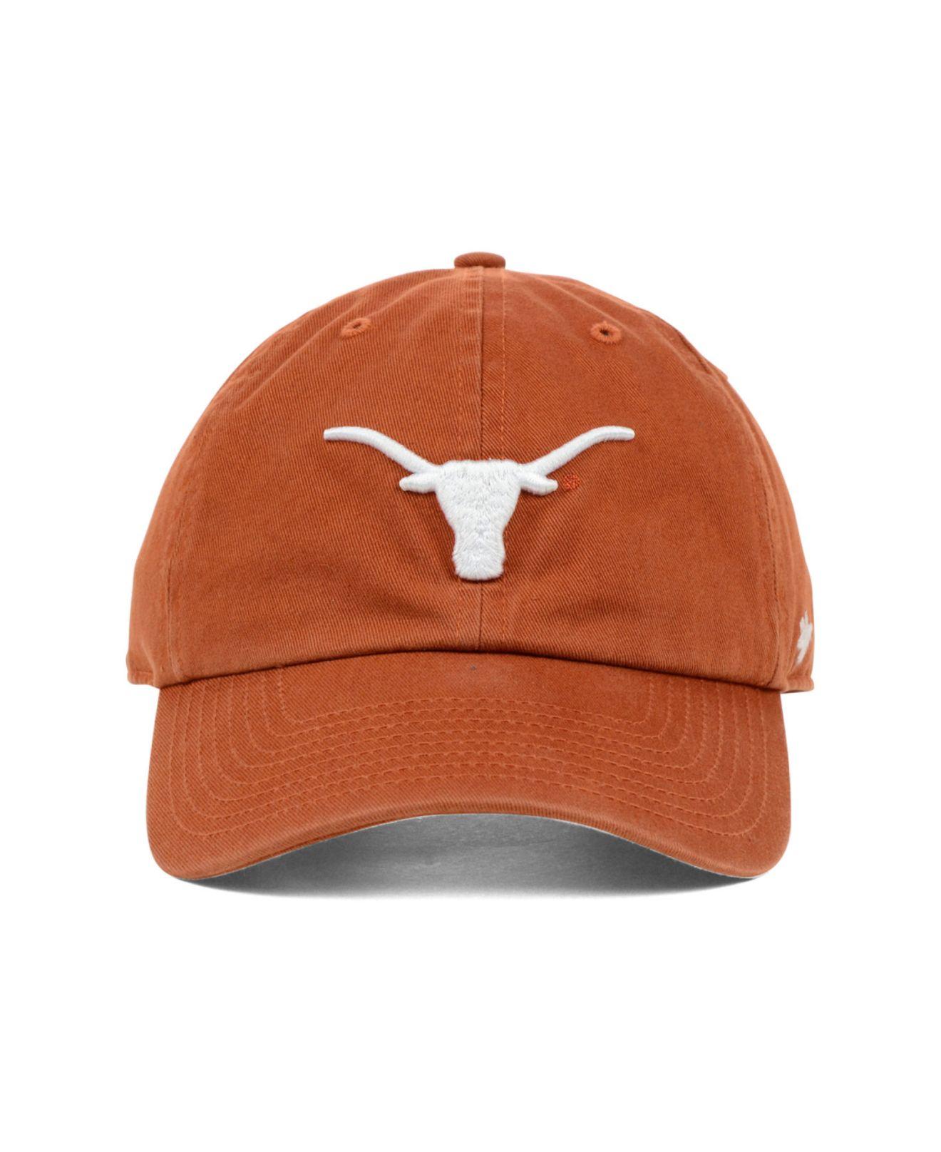 d820a674f06e2 47 Brand Texas Longhorns Clean-up Cap in Orange for Men - Lyst
