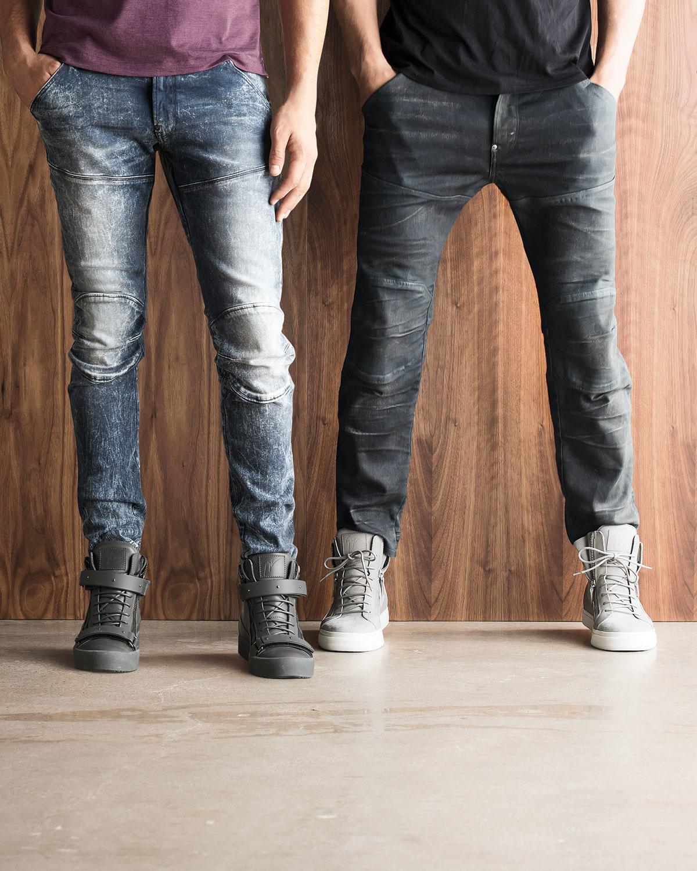 c839da32d1a G-Star RAW 5620 3d Aged Super-slim Moto Jeans in Black for Men - Lyst