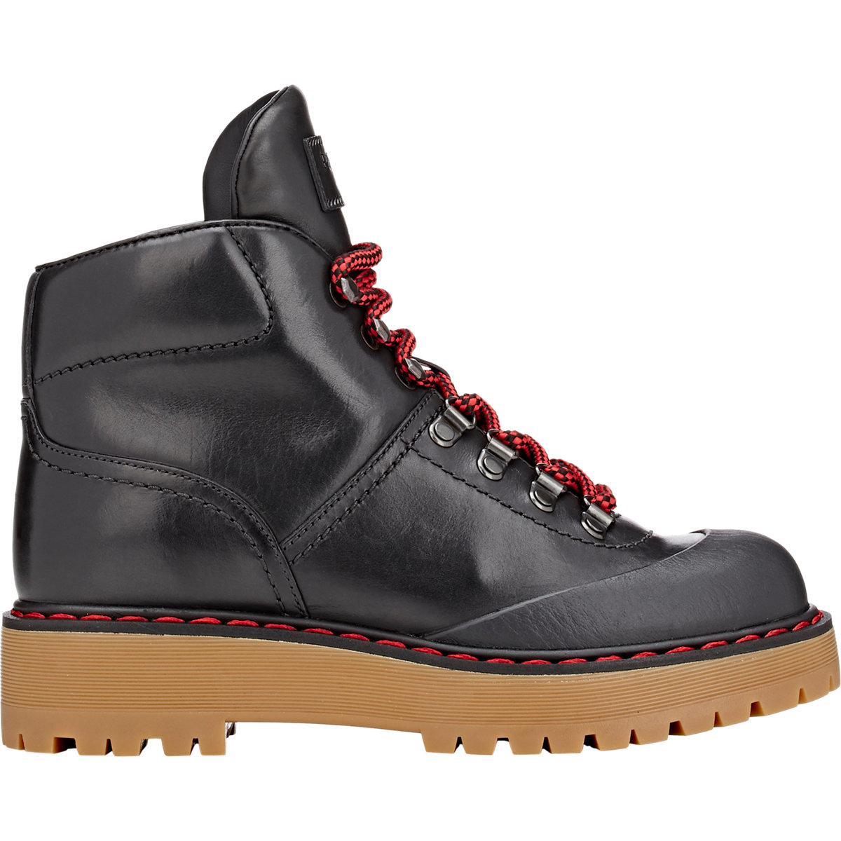 Excellent Boots Prada Women Leather Black 1W087GNERO  EBay