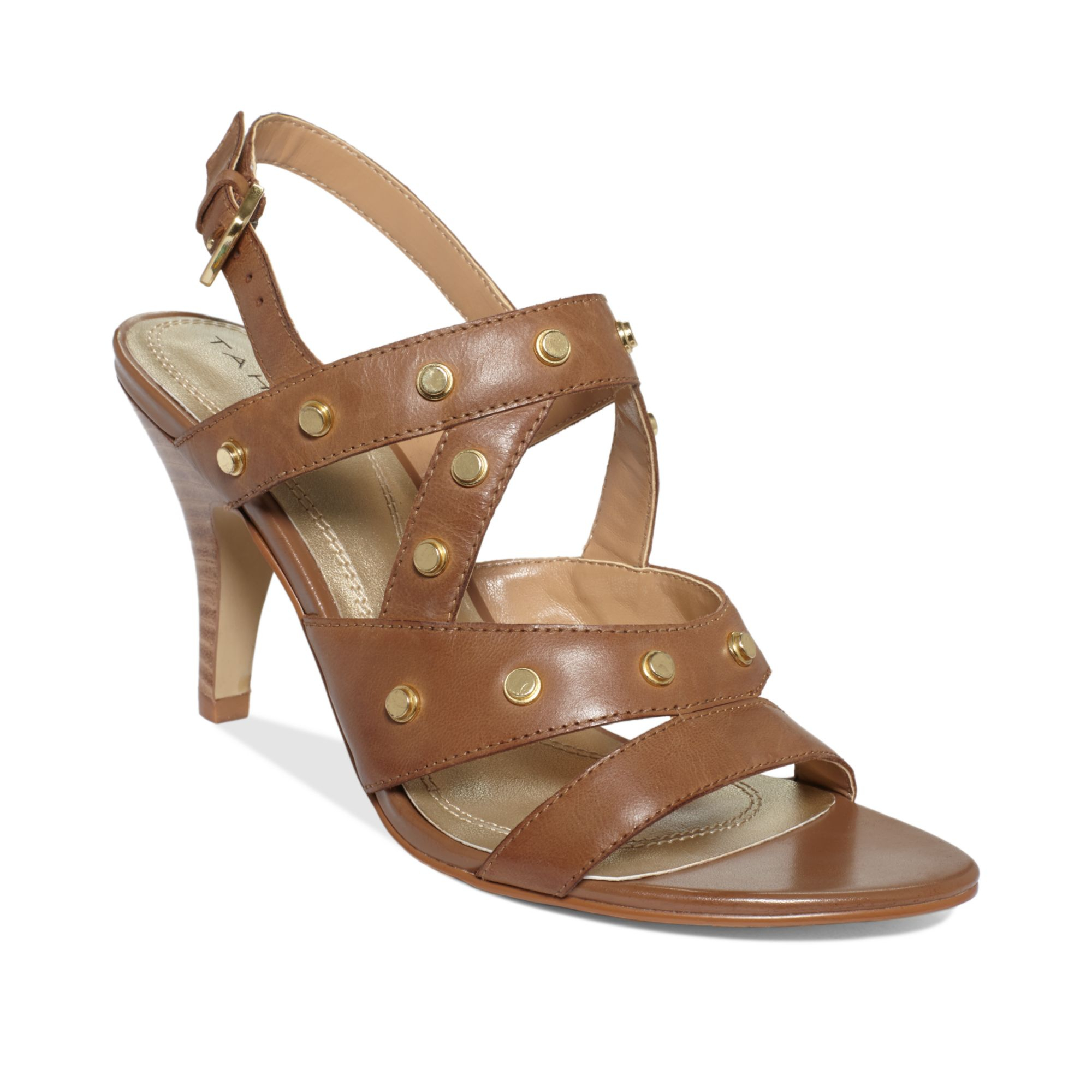 Lyst Tahari Womens Claire Mid Heel Sandals In Brown