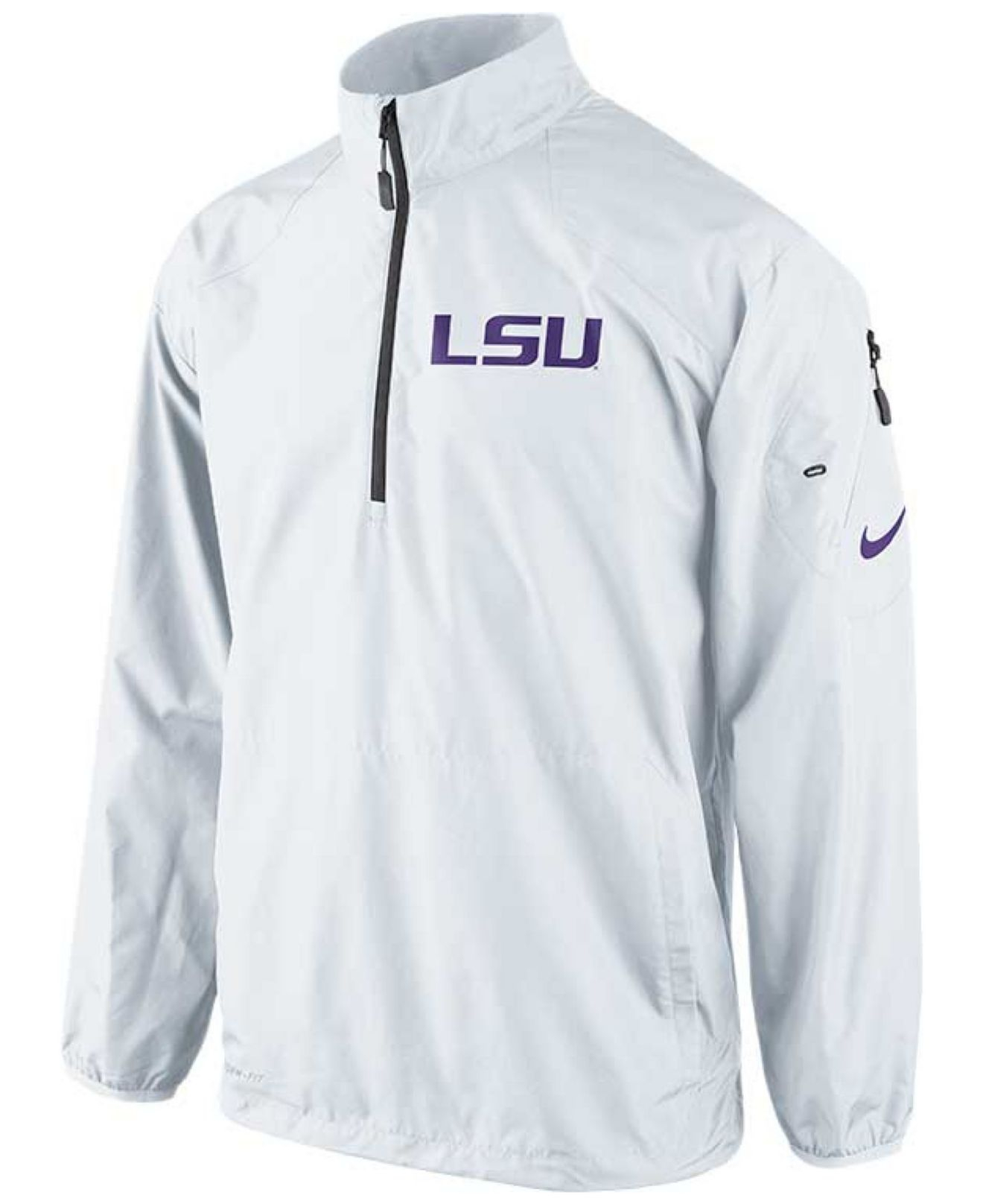 Nike Mens Lsu Tigers Halfzip Pullover Jacket in White for Men | Lyst