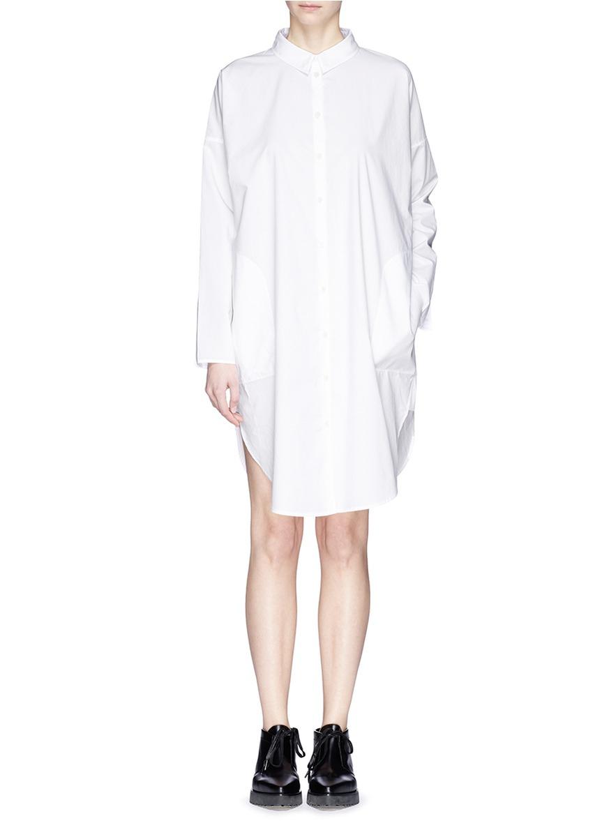 Lyst - Acne Studios 'lash Tech Pop' Cotton Poplin Shirt ...