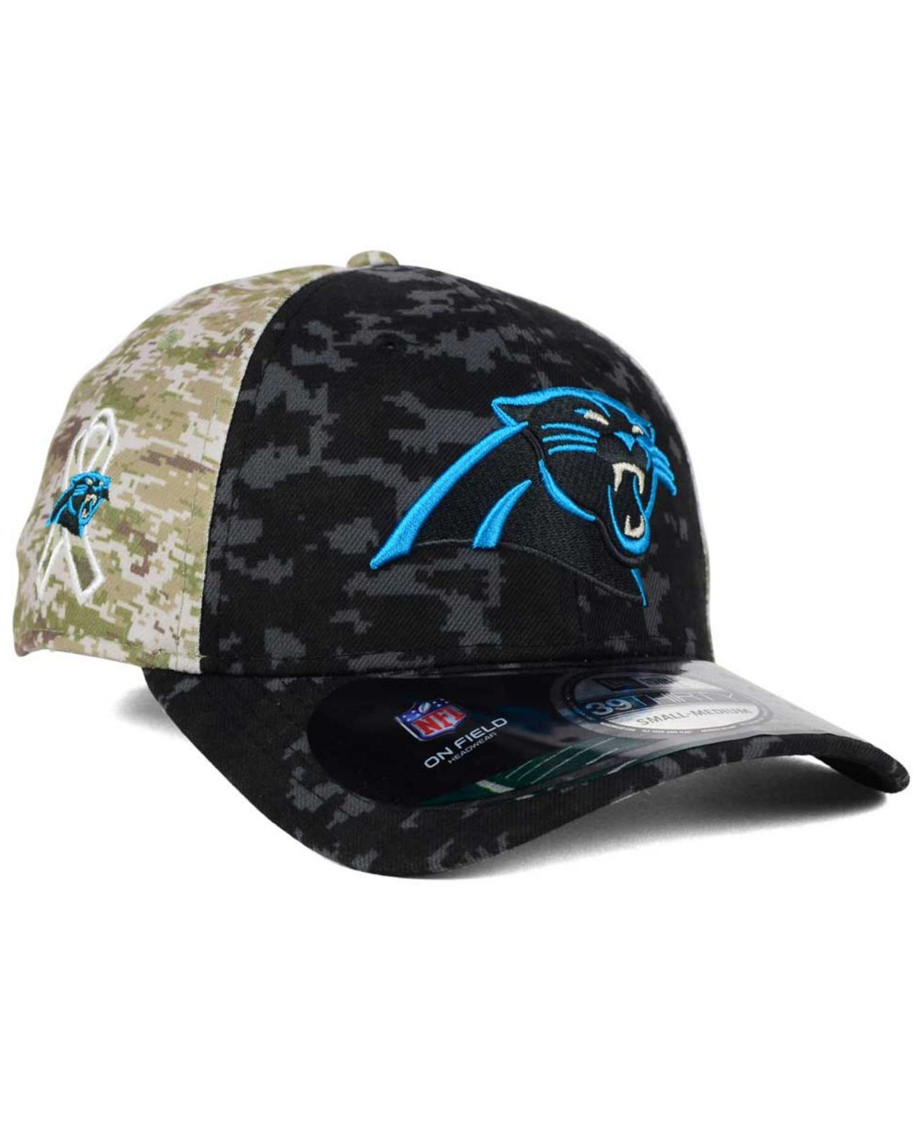 Lyst - KTZ Carolina Panthers Salute To Service 39thirty Cap in Black ... 735238e05