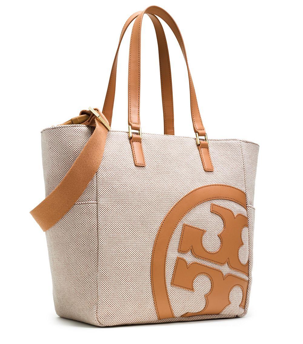 cf4ba4ac2832 Lyst - Tory Burch Lonnie Canvas Baby Bag in Natural