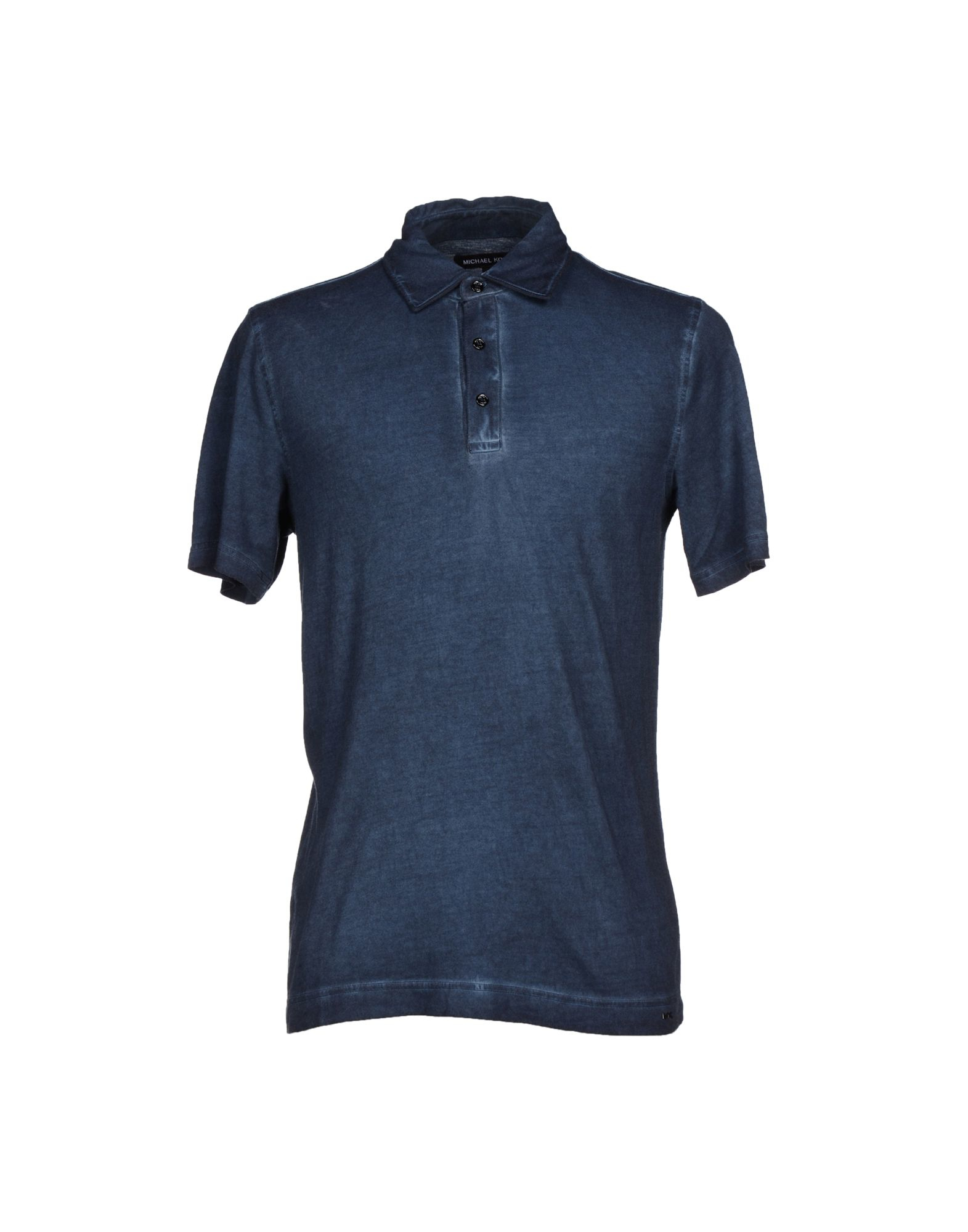 michael kors polo shirt in gray for men slate blue lyst. Black Bedroom Furniture Sets. Home Design Ideas