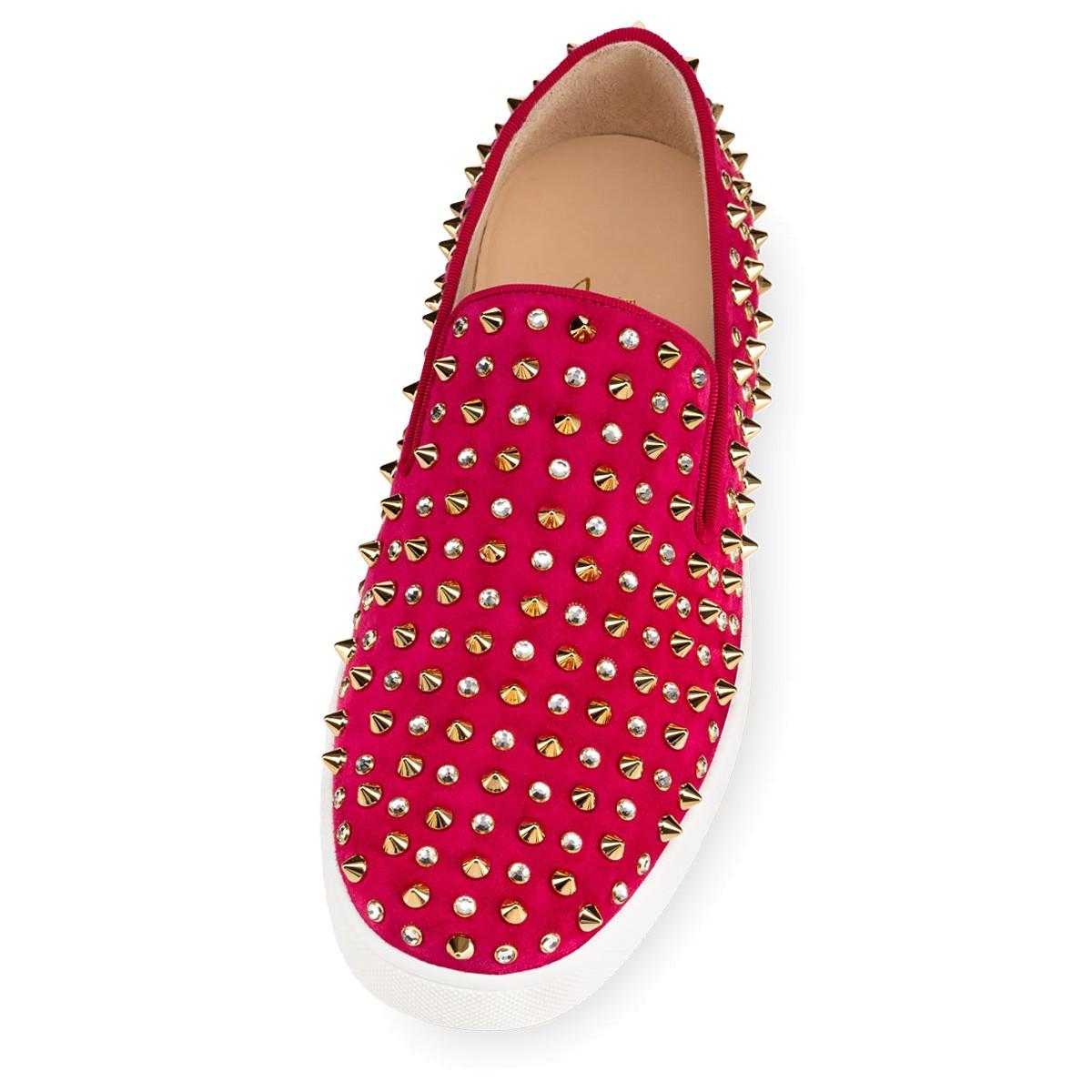 laboutin replica - Christian louboutin Roller 1c1s Woman\u0026#39;s Flat in Pink (Fushia/Gold ...
