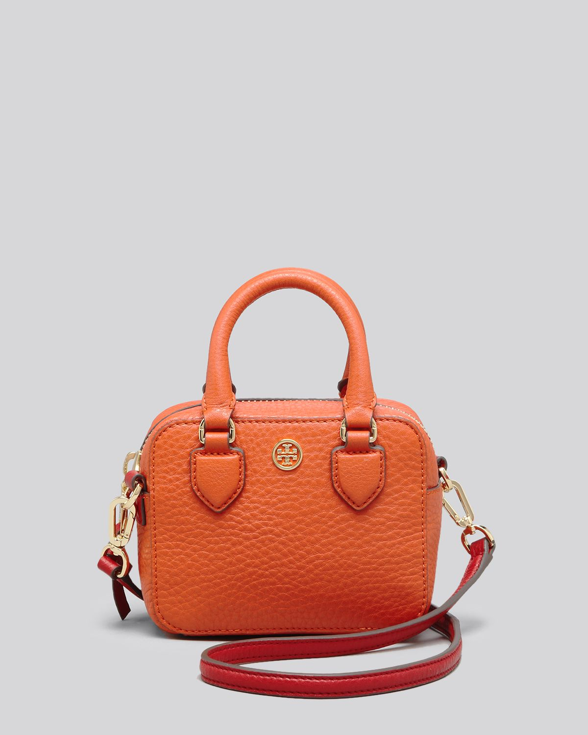 f8b2f5863ee36 Lyst - Tory Burch Crossbody - Robinson Pebbled Shrunken Mini Satchel ...