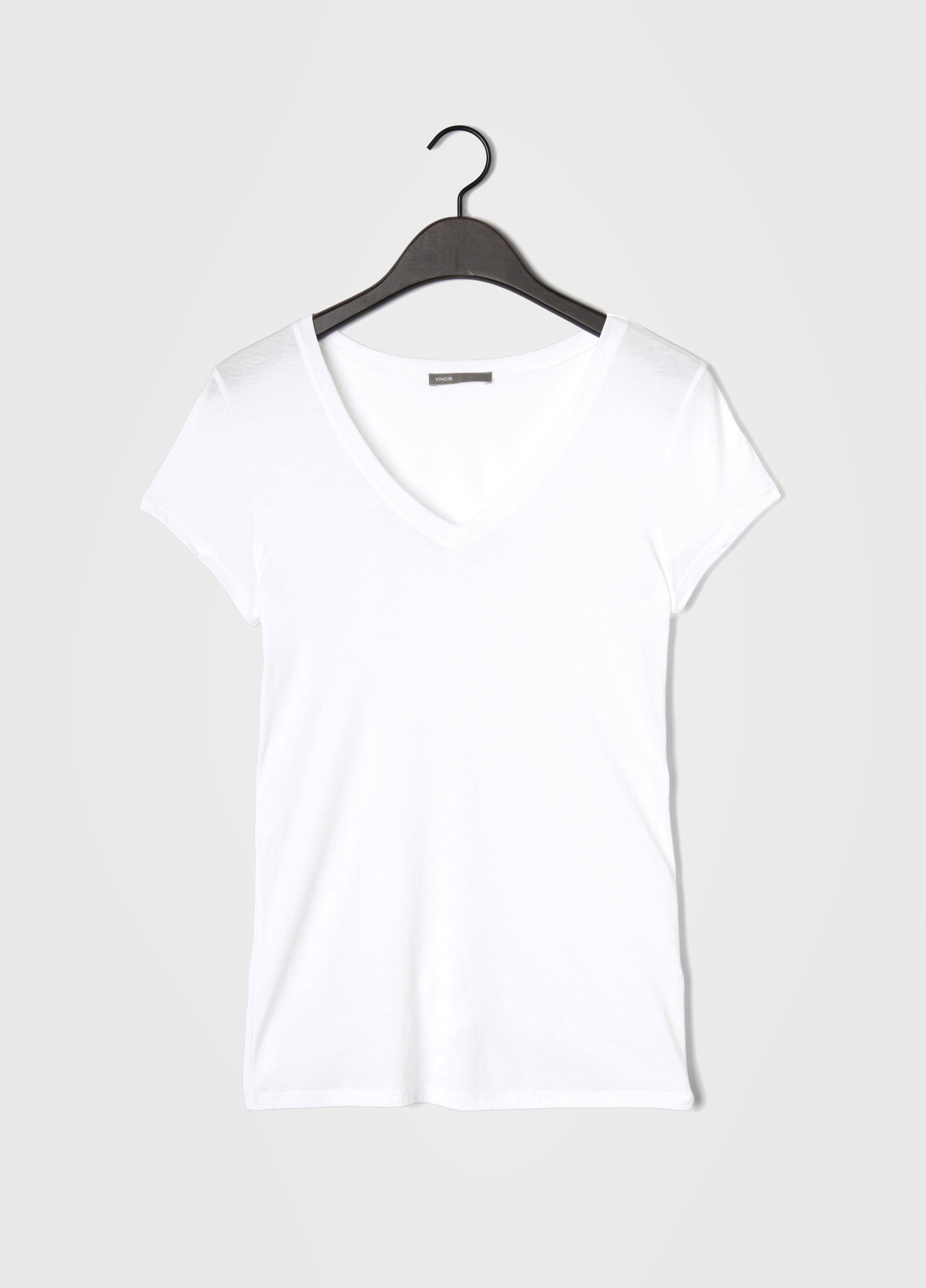 Lyst vince little boy v neck tee in white for Vince tee shirts sale