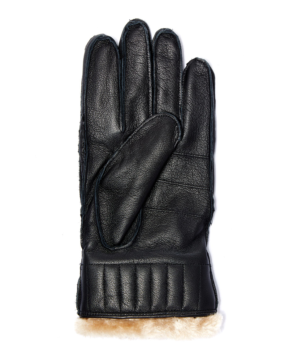 Barbour black leather utility gloves - Gallery Men S Leather Gloves