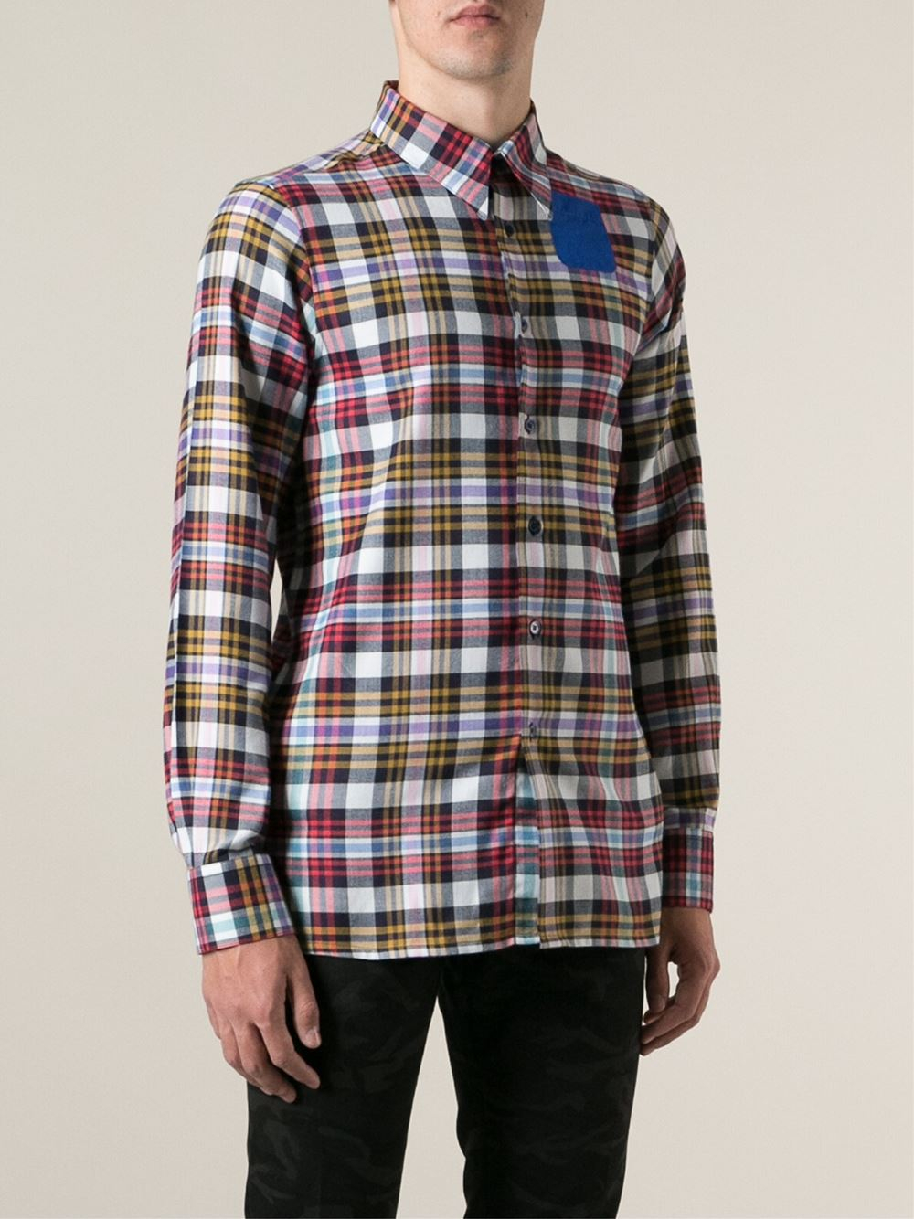 Lyst Raf Simons Sterling Ruby Plaid Shirt For Men