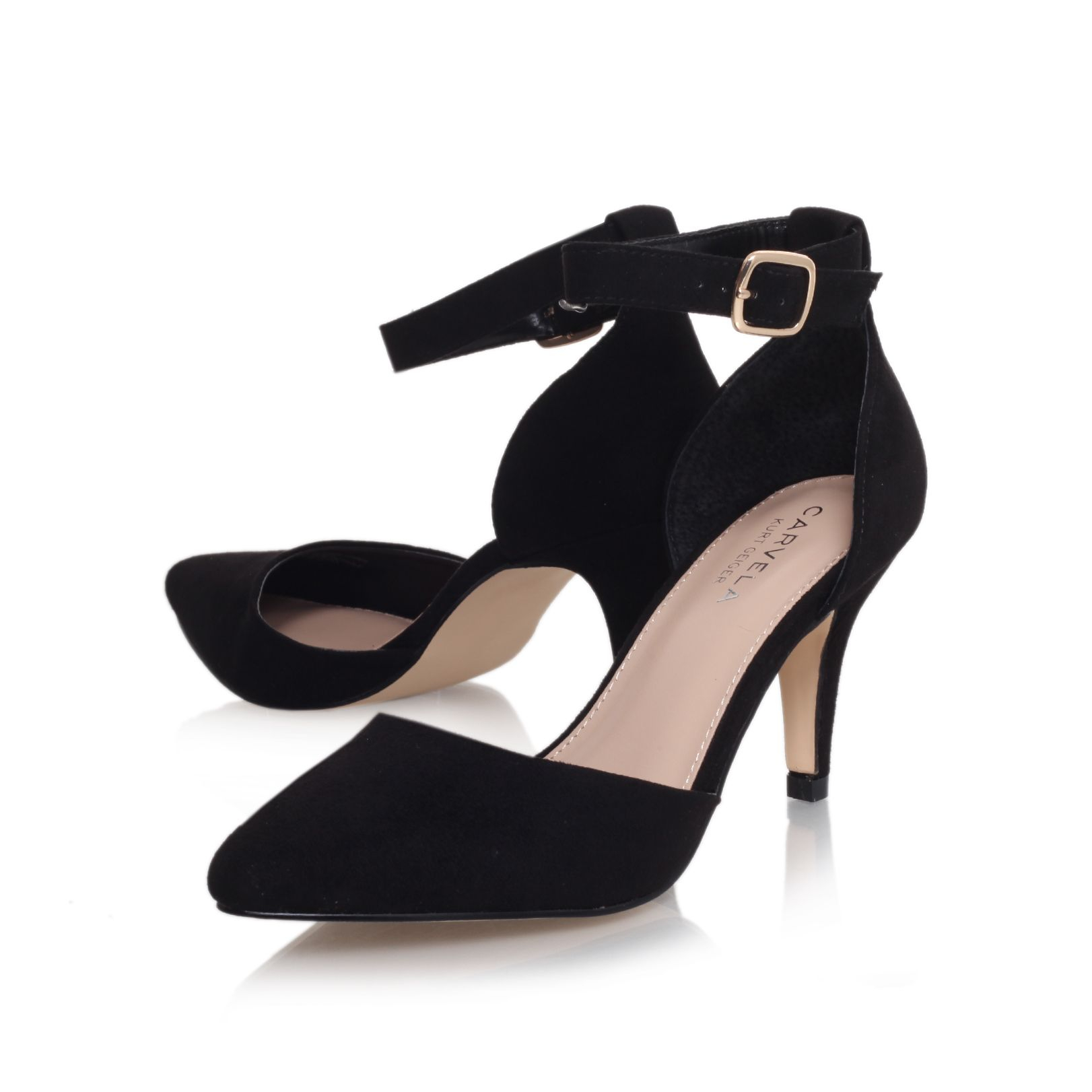 Kurt Geiger Black Ankle Strap Shoes