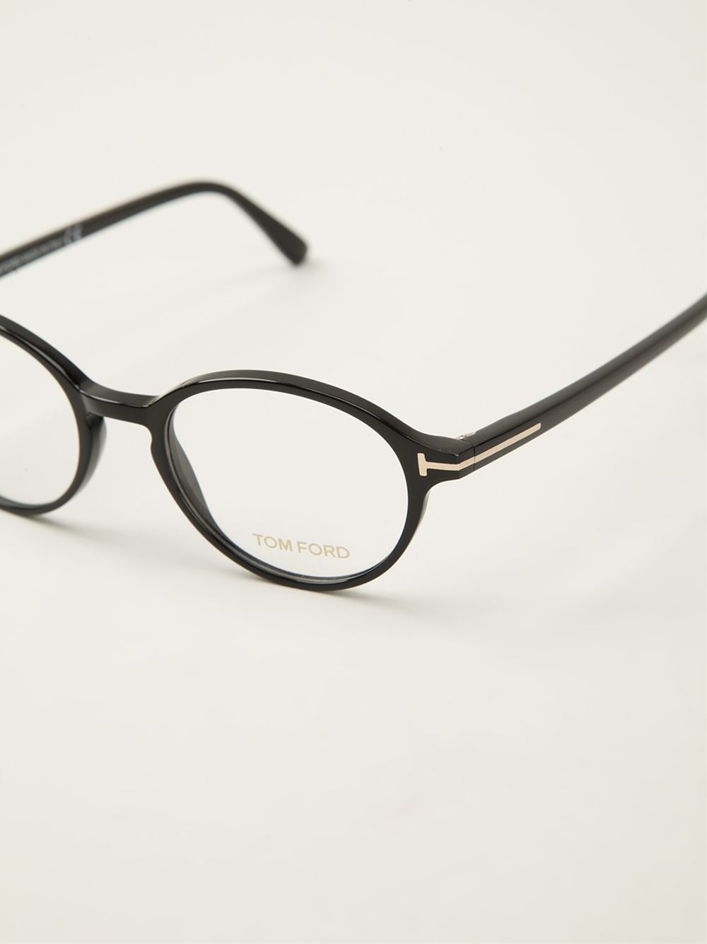 e01419fa608 Lyst - Tom Ford Round Frame Glasses in Black