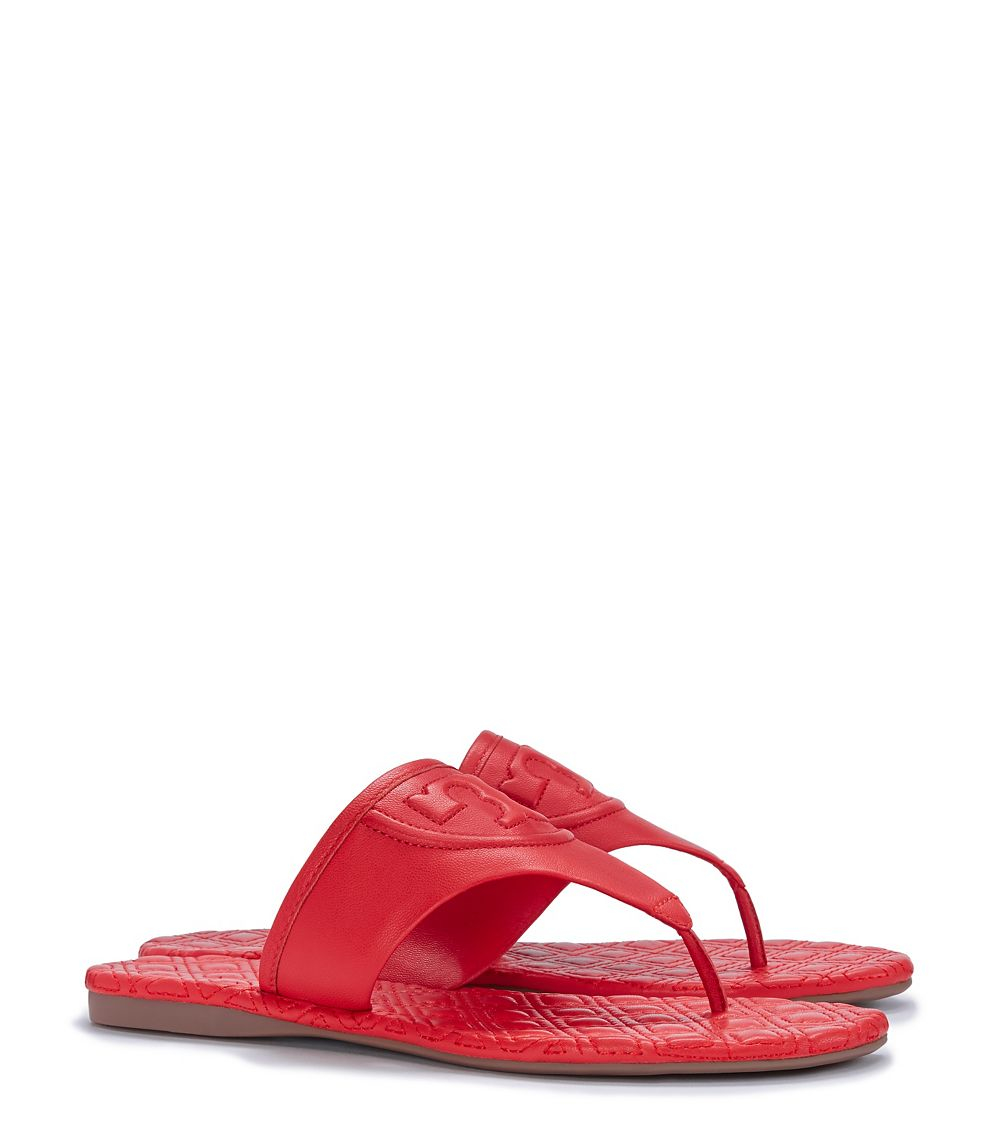 66ed49d5a1e Lyst - Tory Burch Fleming Thong Sandal in Red