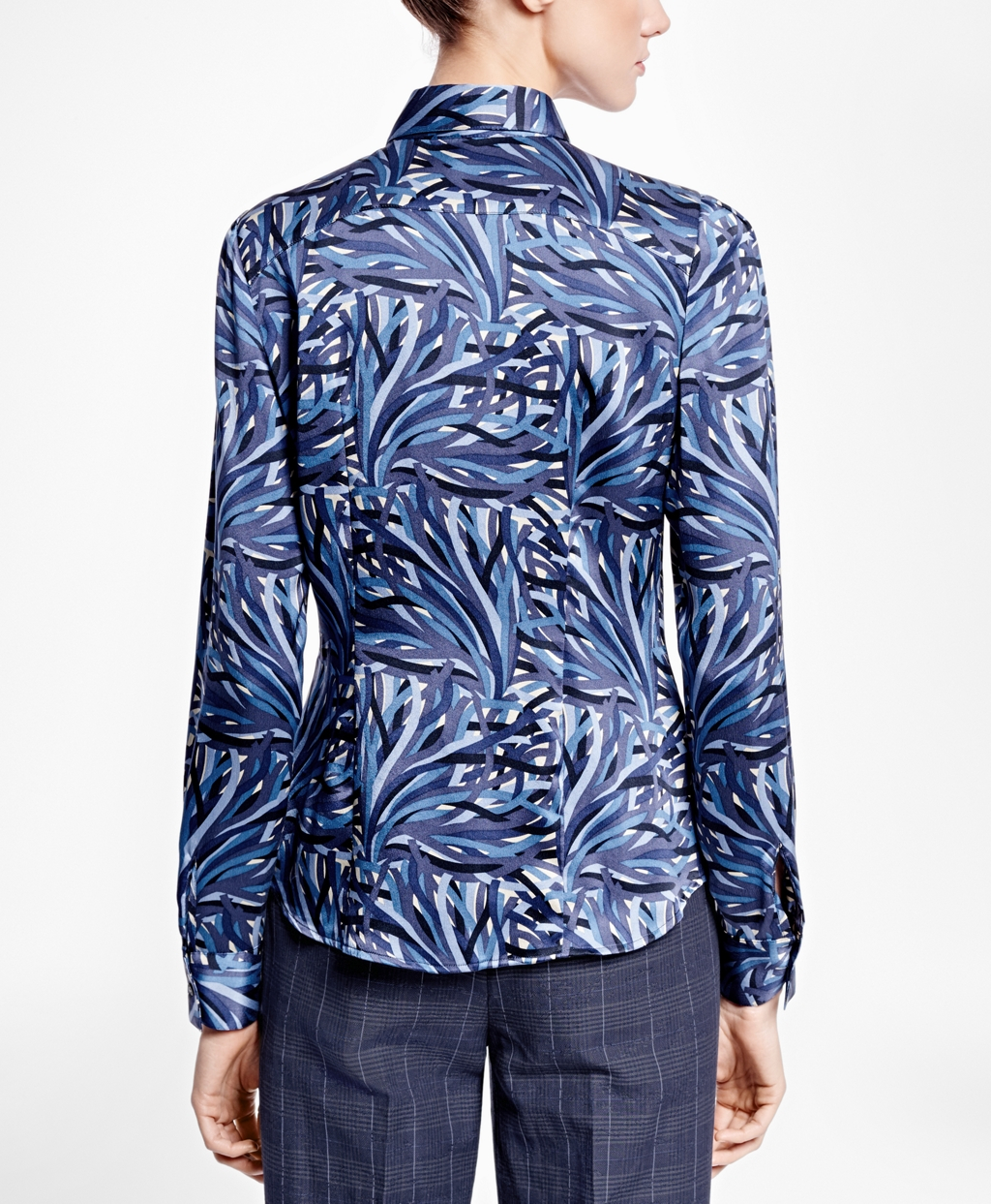 Brooks brothers Silk Charmeuse Print Shirt in Blue | Lyst