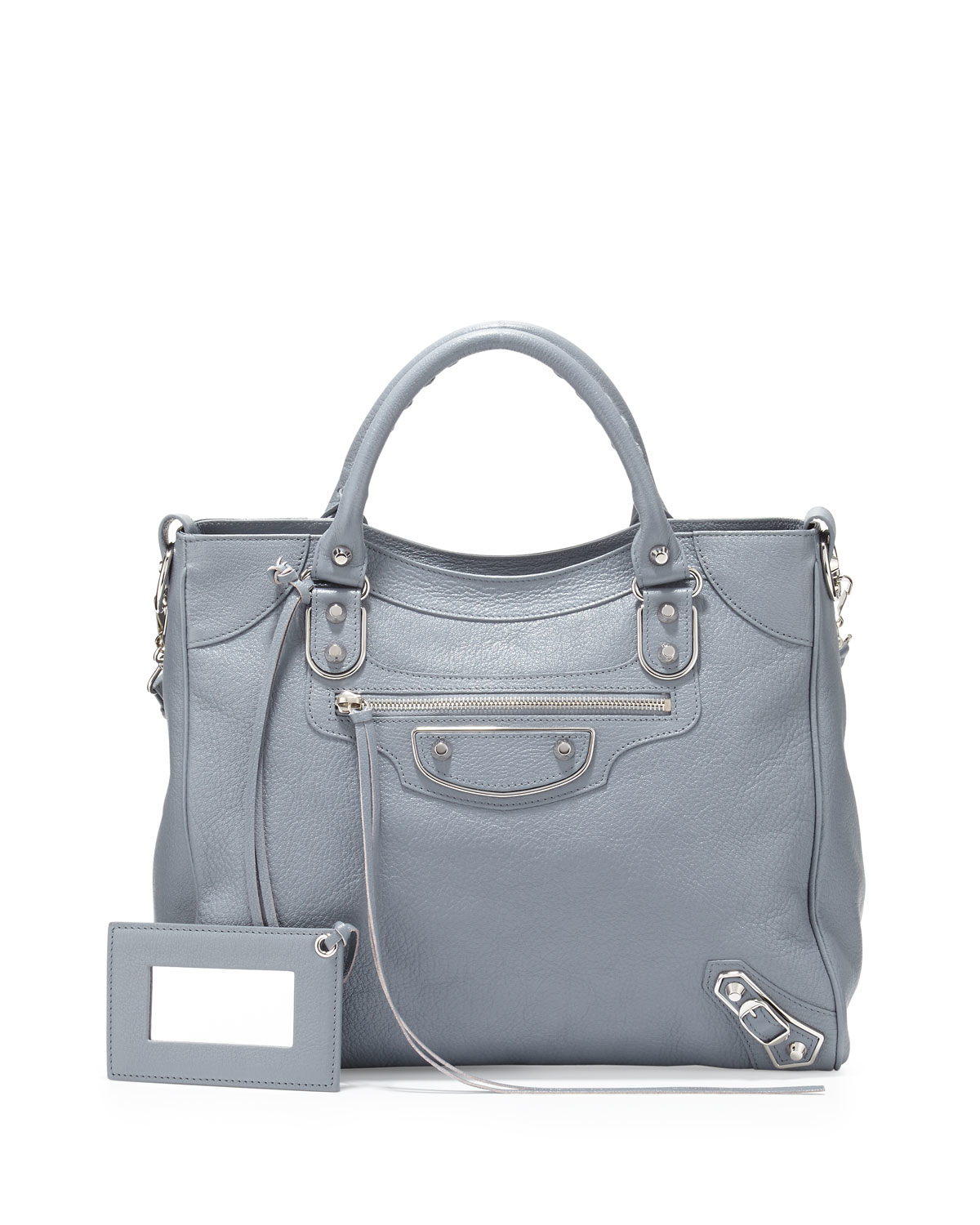 1d3192fd24a0e Lyst - Balenciaga Metallic Edge Nickel Classic Velo Aj Bag in Gray