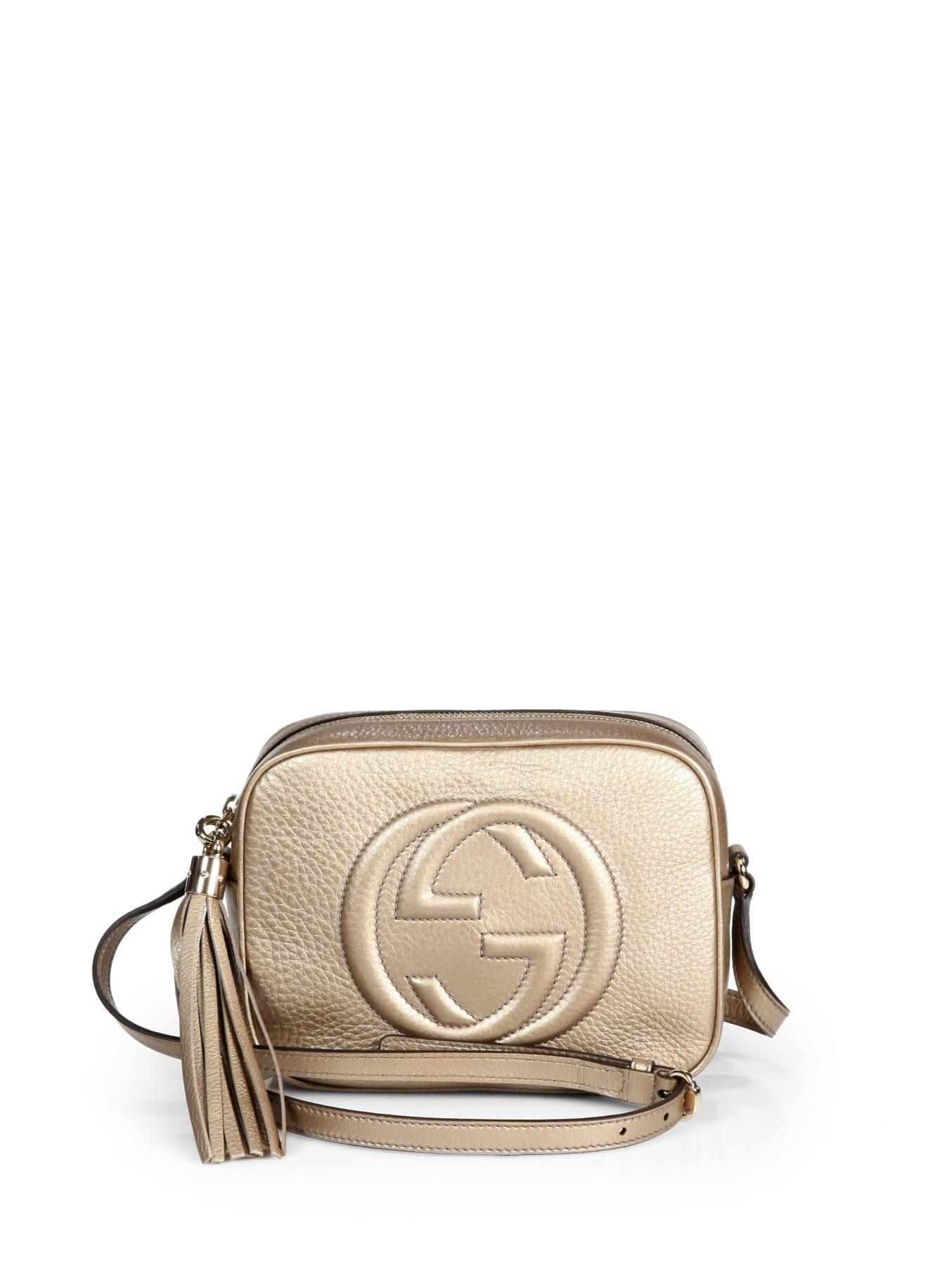 6b0d8db12fa Lyst - Gucci Soho Metallic Leather Disco Bag in Metallic