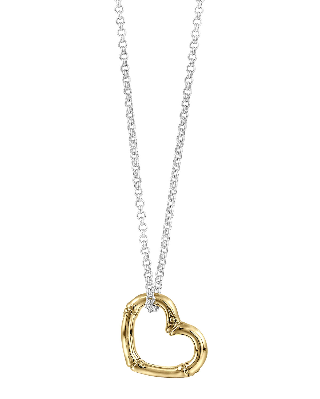 John Hardy Bamboo 18K Pearl Pendant Necklace with Diamonds i9PLFsy