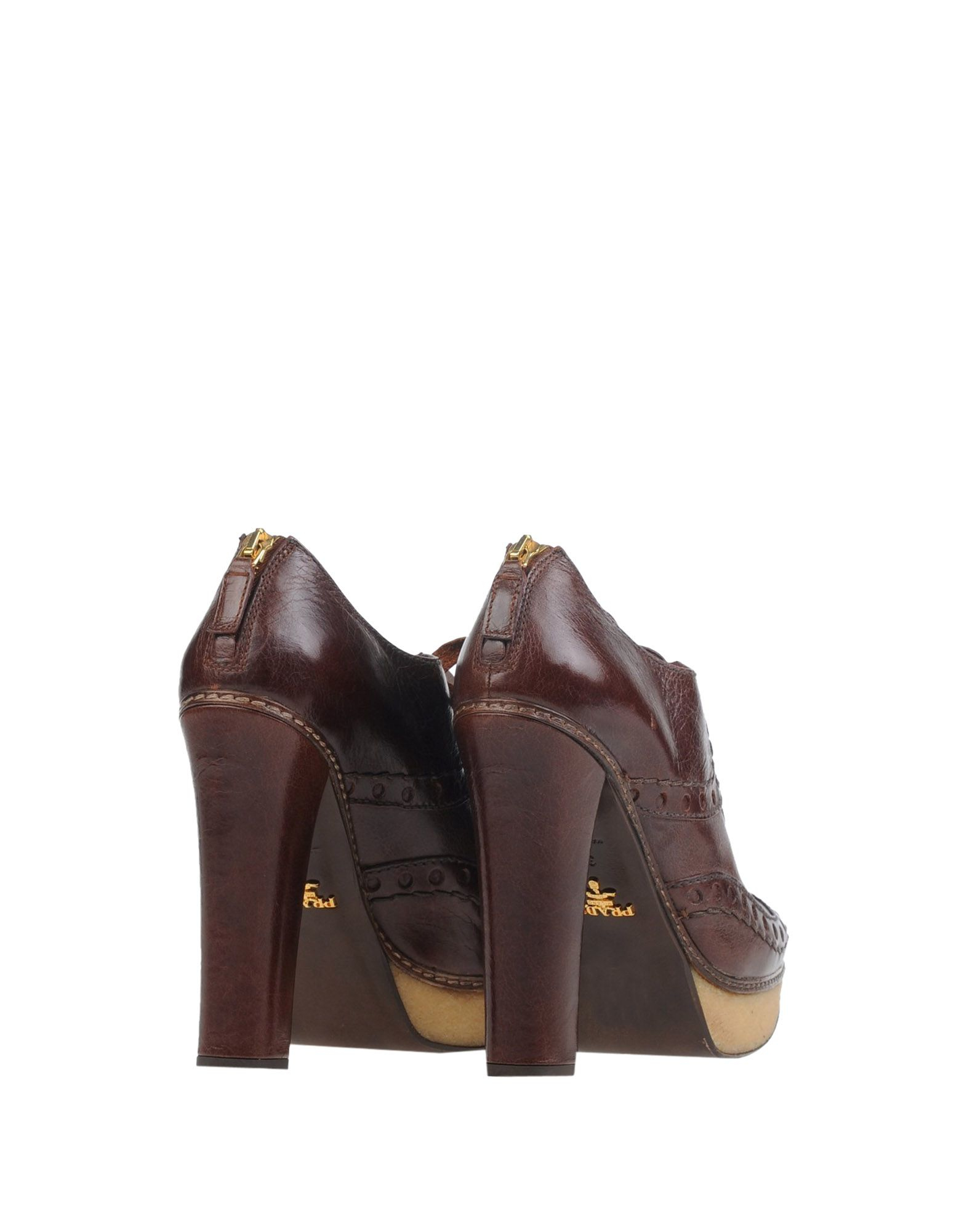 Prada Lace-up Shoes in Brown (Cocoa) | Lyst - Prada briefcase cocoa brown