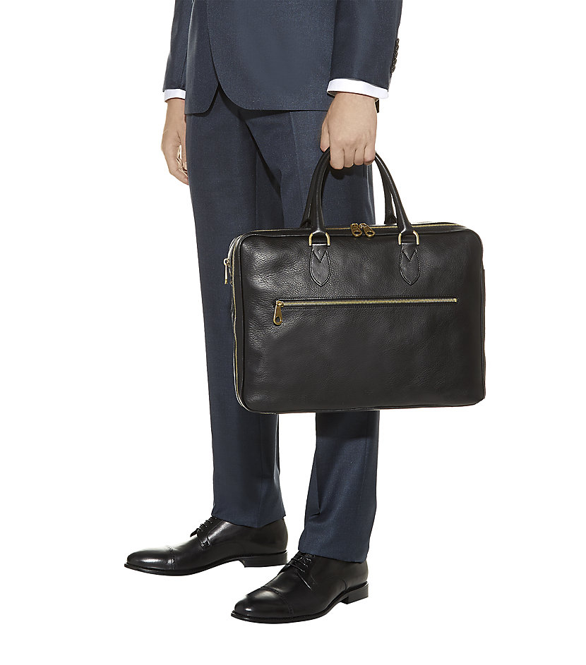 b530368e9f4 ... uk mulberry heathcliffe laptop briefcase in black for men lyst d22a9  76906