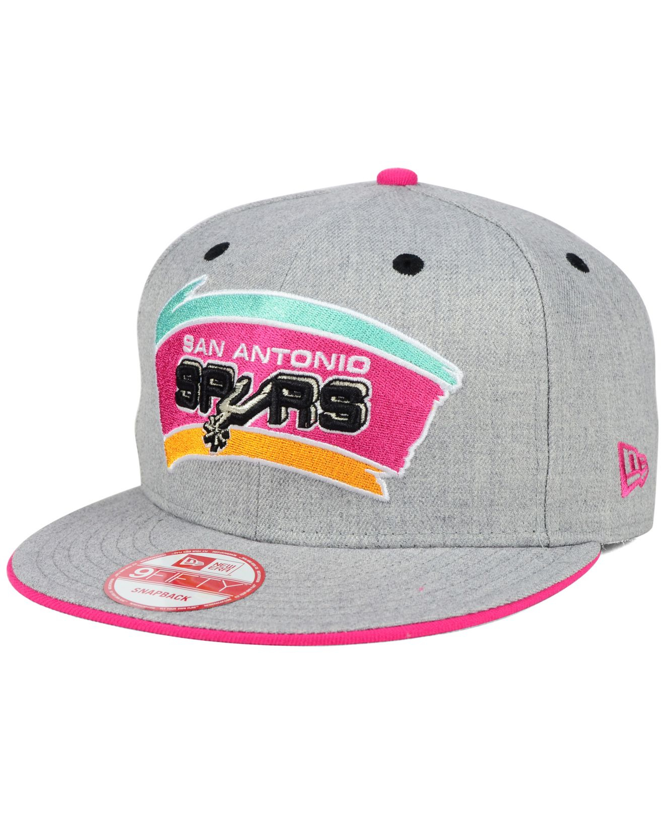 separation shoes b147a f80c5 ... australia lyst ktz san antonio spurs heather 9fifty snapback cap in gray  for men 73497 8b220