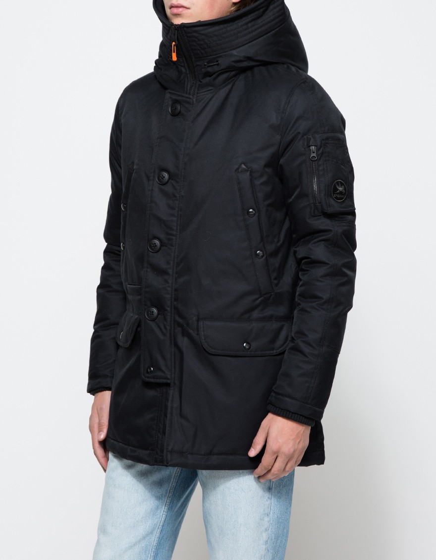 085159cb26d Lyst - Spiewak Aviation Snorkel Cotton-Blend Parka Jacket in Black ...