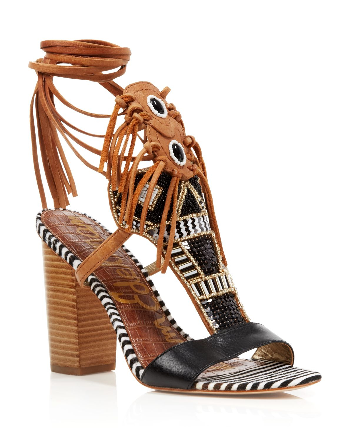 Black Shoes With Gold Block Heel