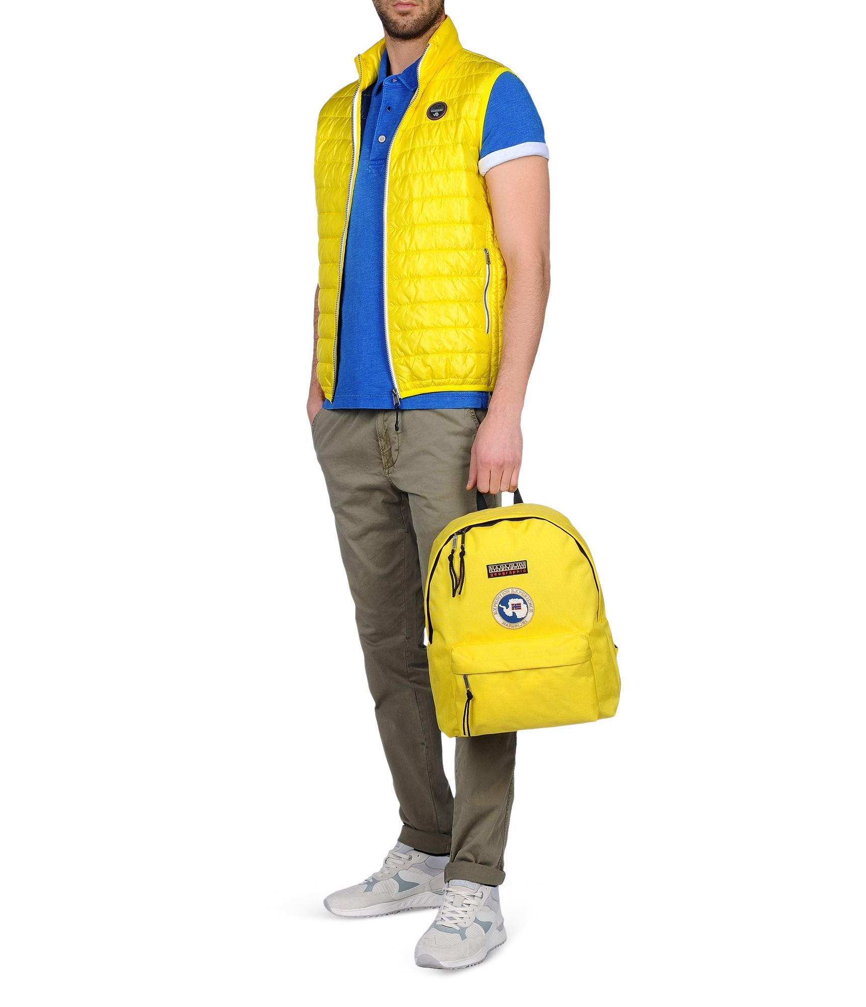 Napapijri Backpacks Amp Fanny Packs In Yellow For Men Lyst