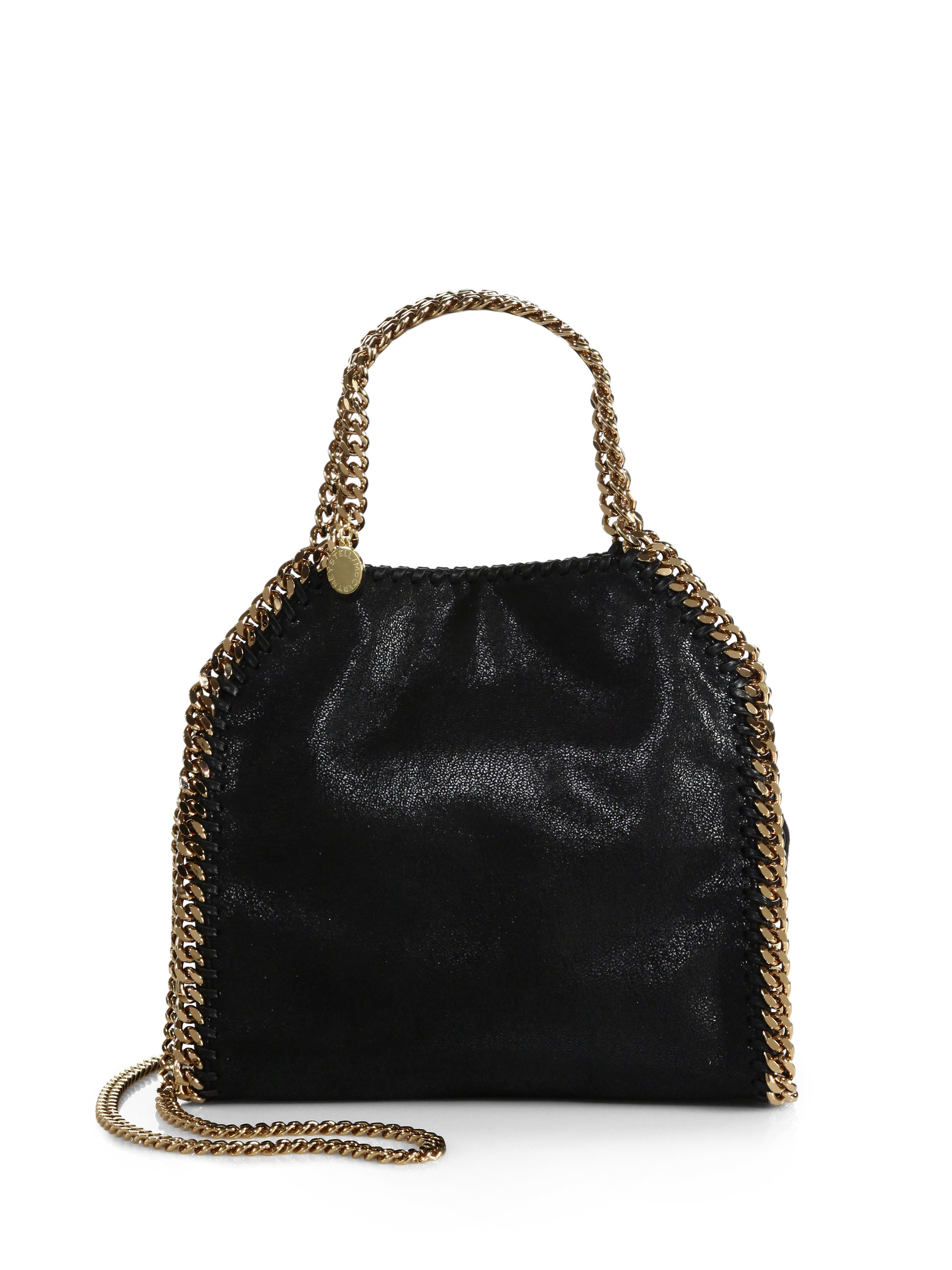 Stella Mccartney Falabella Mini Baby Bella Metallic Faux