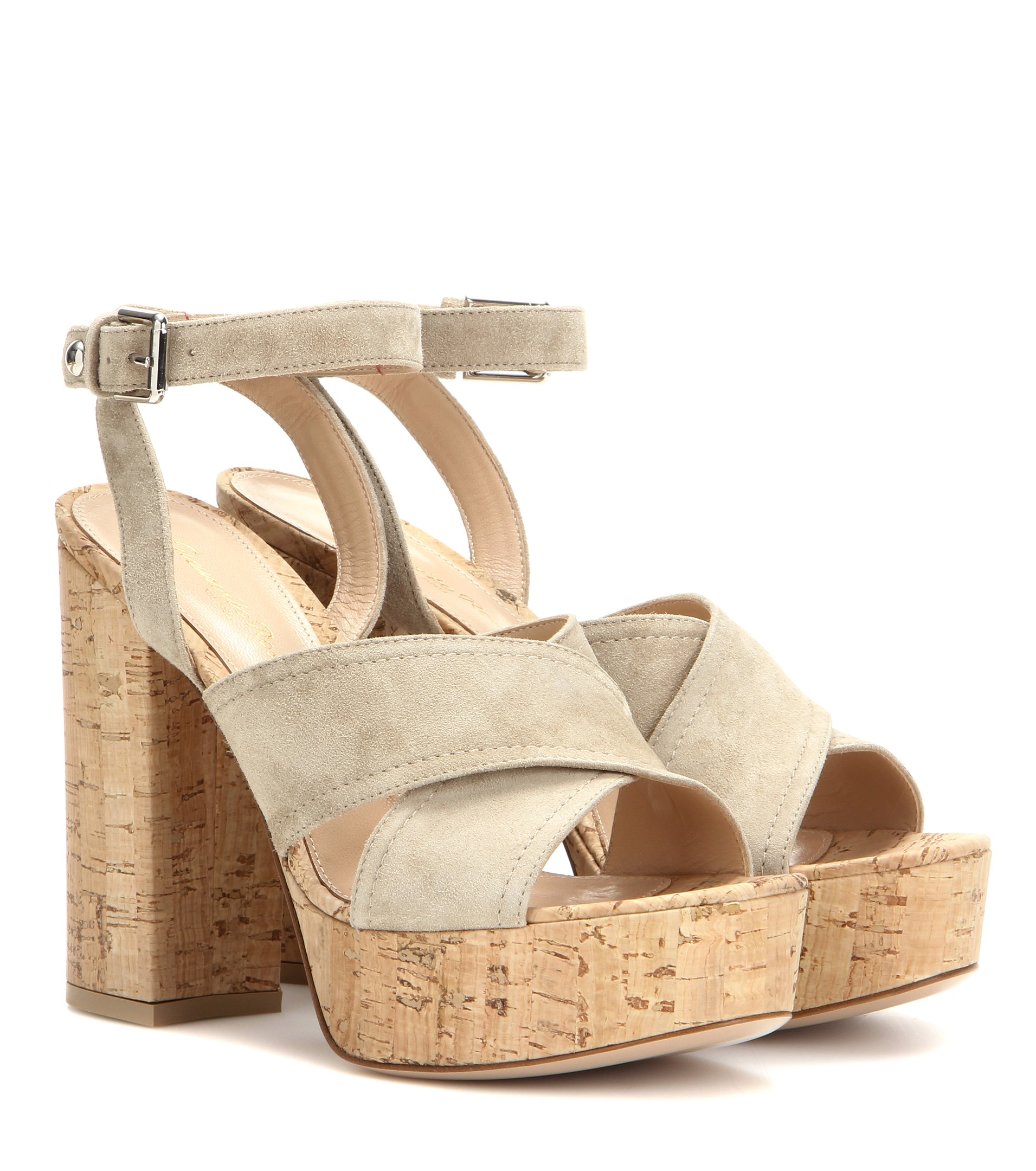 Gianvito Rossi Suede Platform Sandals buy cheap eastbay fVgrGrV