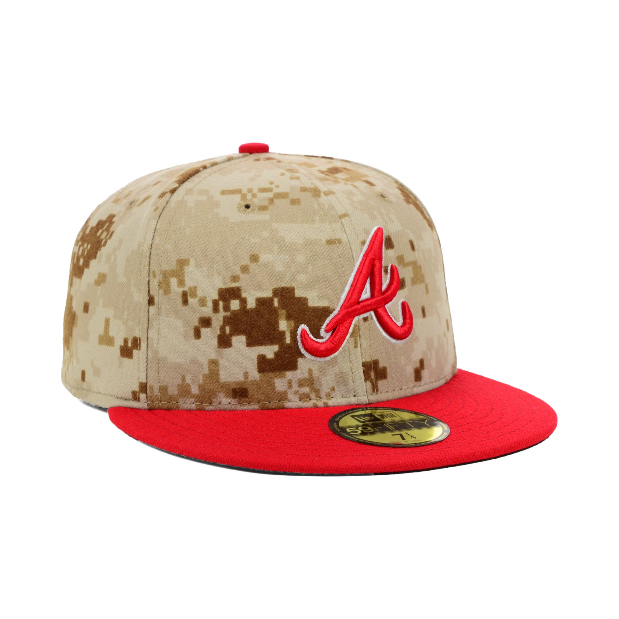 best sneakers b10f5 e7314 ... new arrivals lyst ktz atlanta braves stars and stripes 59fifty cap in  natural 328a7 8accf