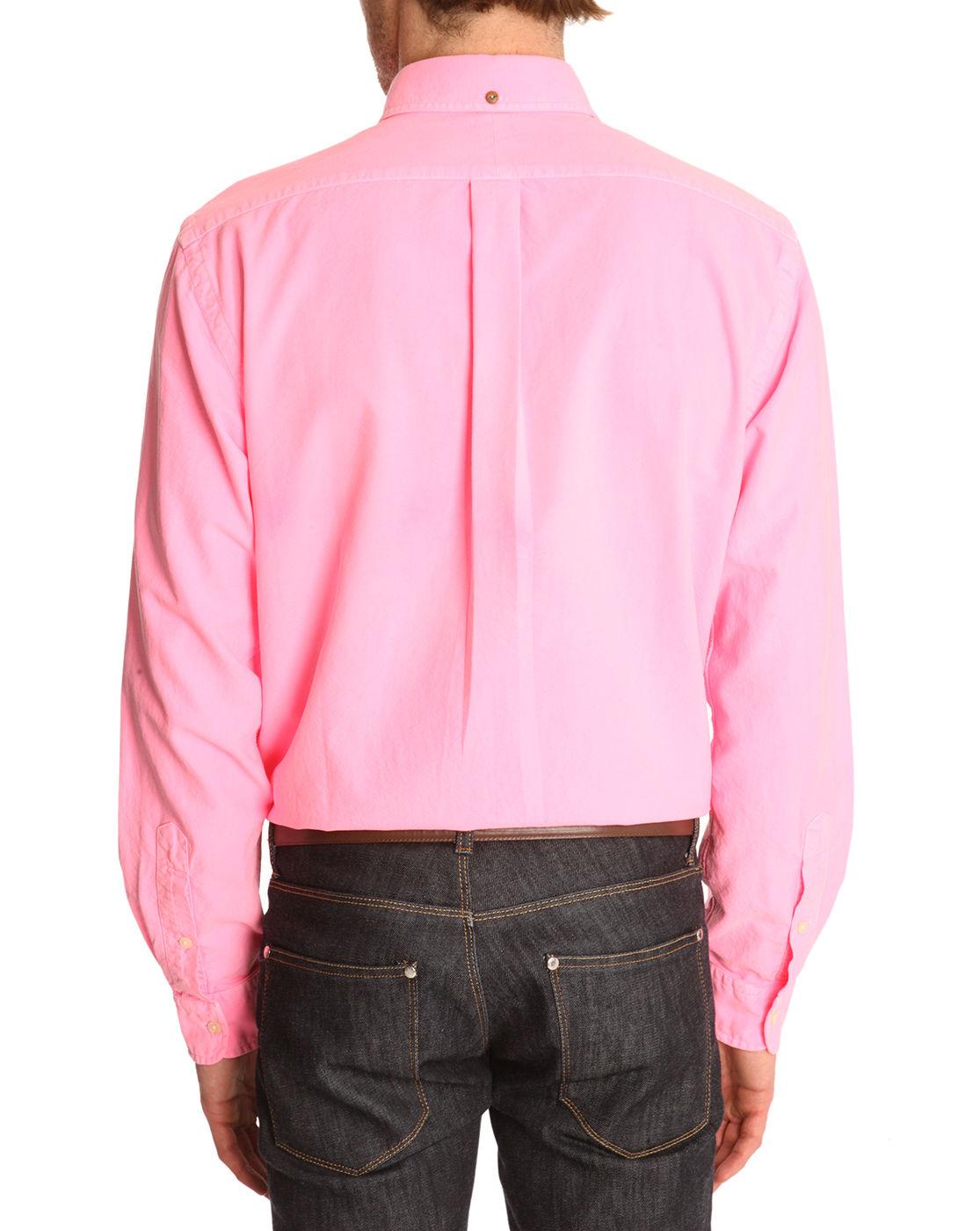 polo ralph lauren washed electric pink slim fit oxford. Black Bedroom Furniture Sets. Home Design Ideas