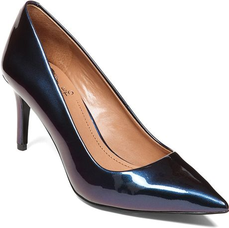 Vince Camuto Cassina Patent Leather Pumps In Blue Blue