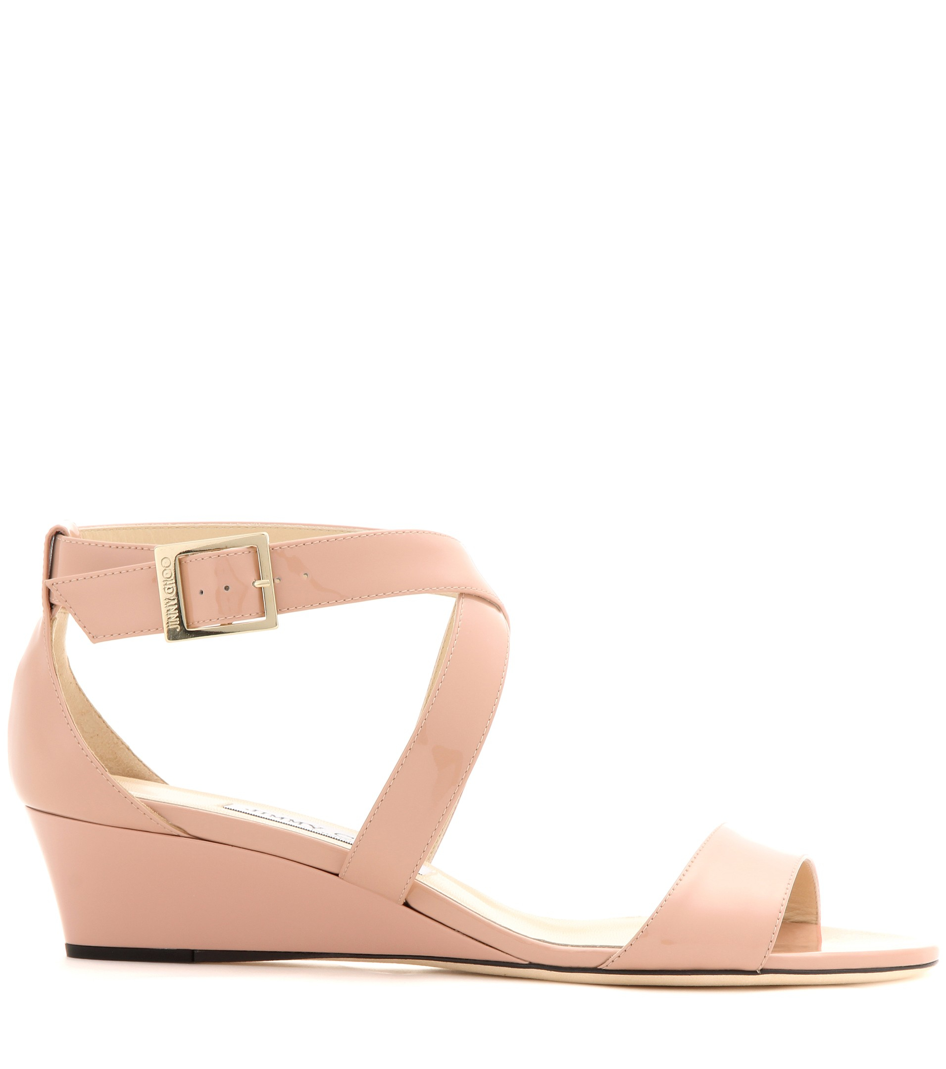 aaab799cb83e Lyst - Jimmy Choo Chiara Patent Leather Sandals in Pink