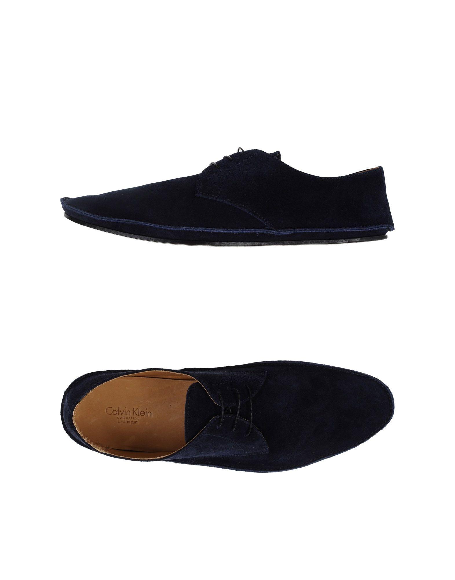 calvin klein lace up shoes in blue for men lyst. Black Bedroom Furniture Sets. Home Design Ideas
