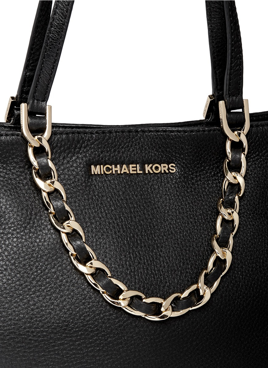 Michael Kors Black Purse With Gold Chain Best Image Ccdbb