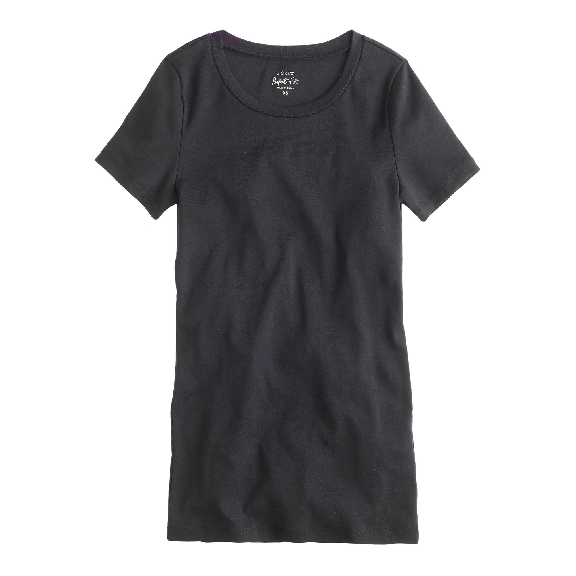 Perfect fit t shirt in black lyst for Perfect black t shirt
