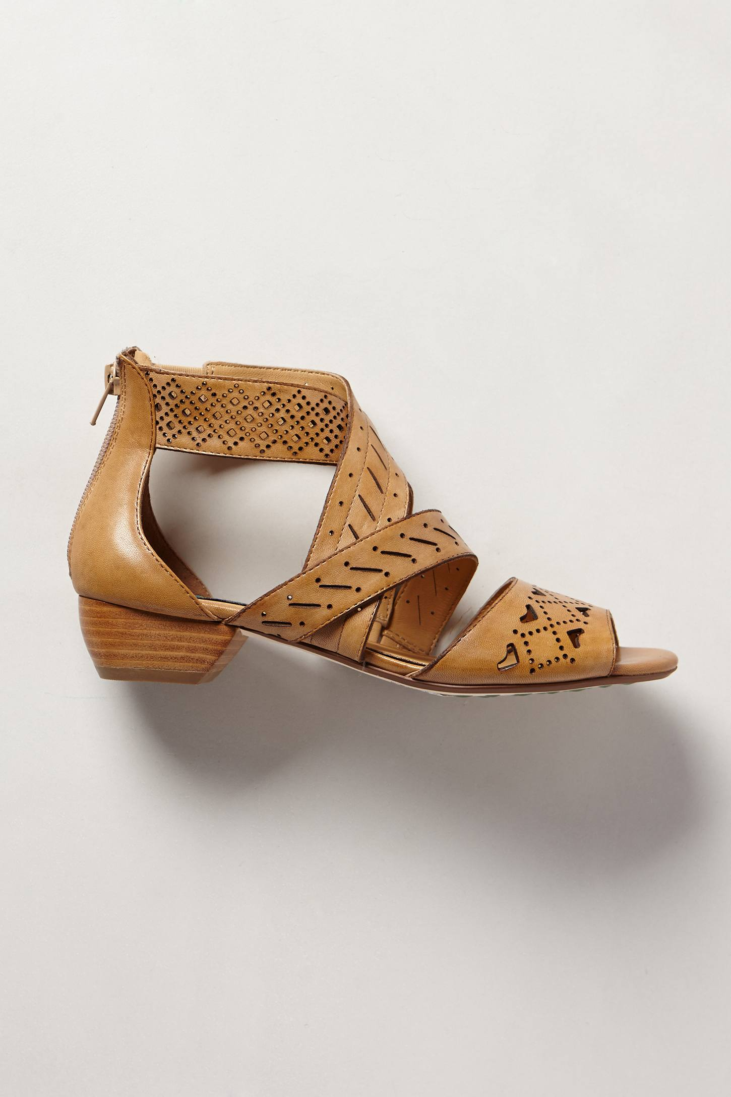 Lyst Everybody Abbey Lasercut Sandals In Brown
