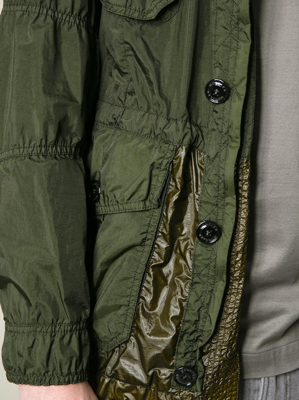 moncler military green jacket