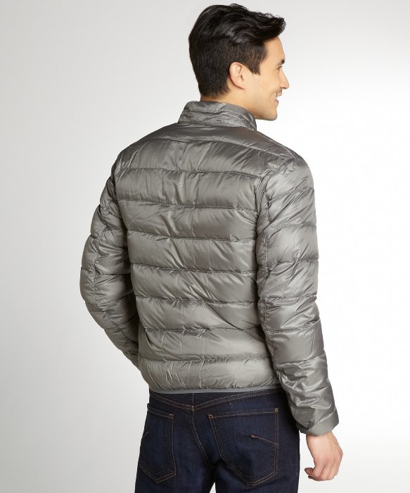 Lyst Burberry Metal Grey Down Filled Hooded Puffer Coat