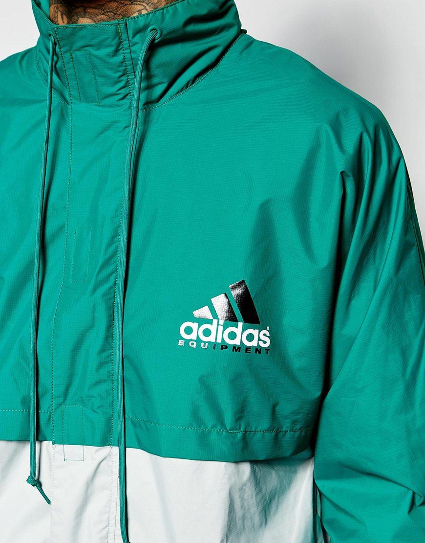 Adidas Originals Equipment Jacket Green on Color Learn Rain