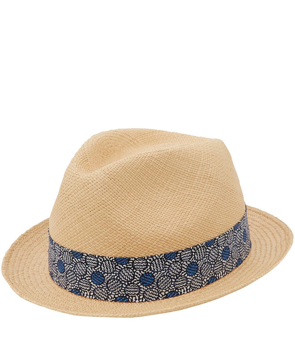 2c9cb75e970b8 Christys  Cream Yorkie Circle Print Band Panama Hat in Natural - Lyst