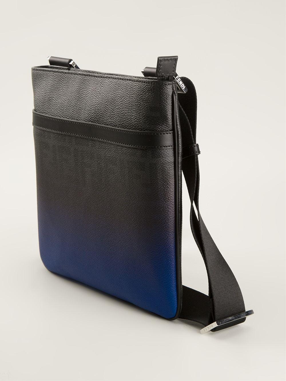78bff2128e ... best lyst fendi flat messenger bag in blue for men 6e7d6 c4e7e