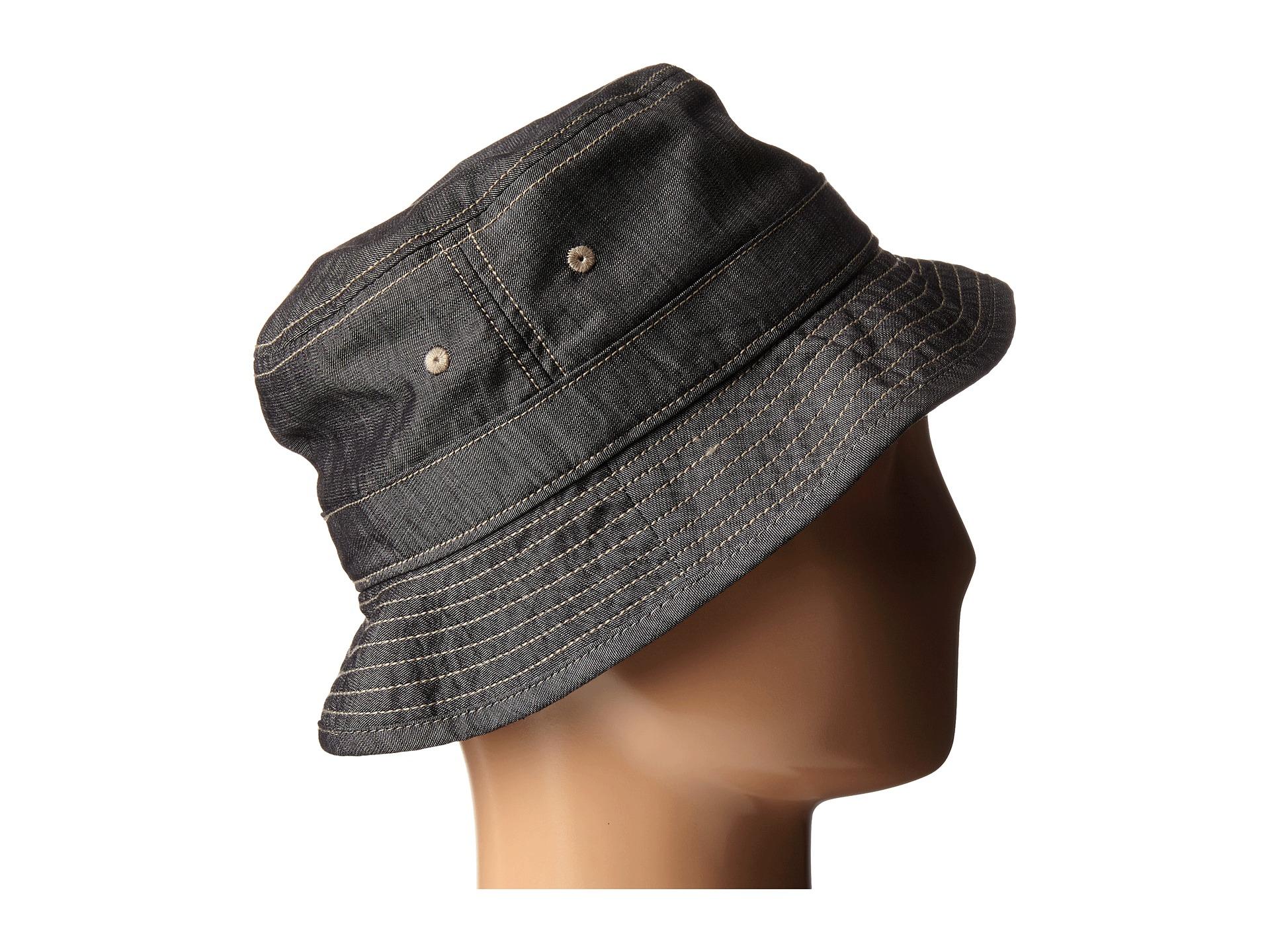 d6f1770173a Lyst - Original Penguin Chambray Bucket Hat in Black for Men